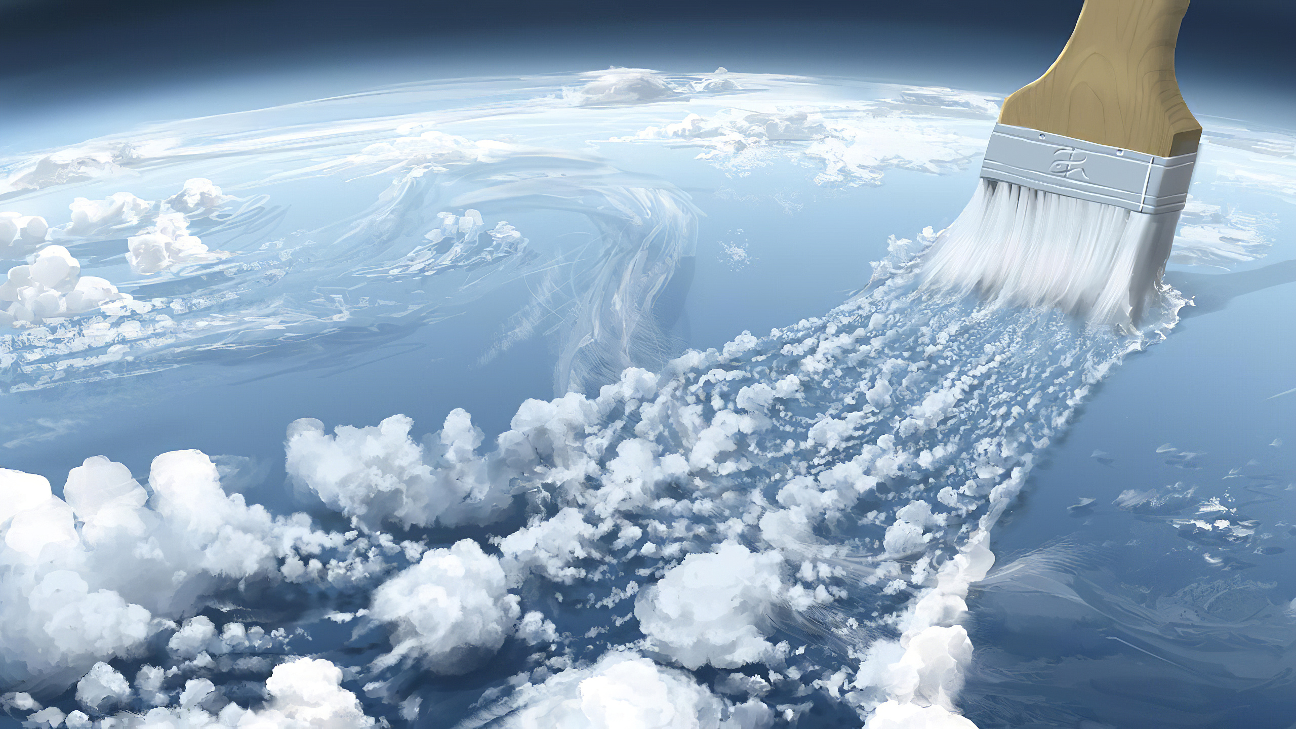 General 2560x1440 planet Earth space brush clouds digital art space art