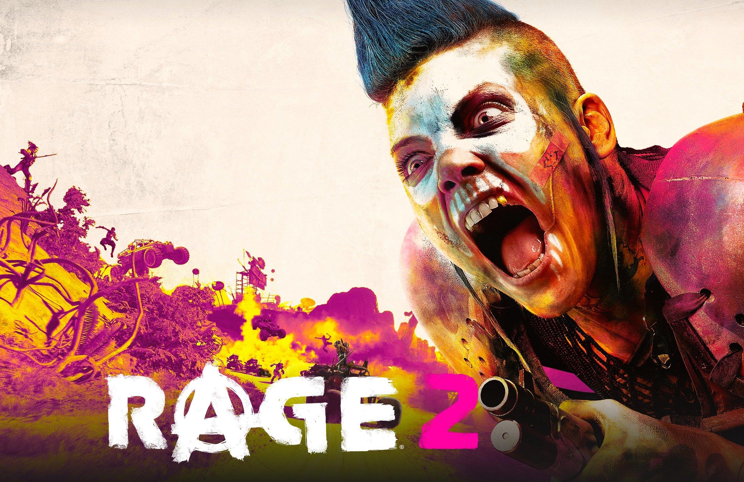 General 2368x1536 video games Rage 2 Rage (video game) pink magenta