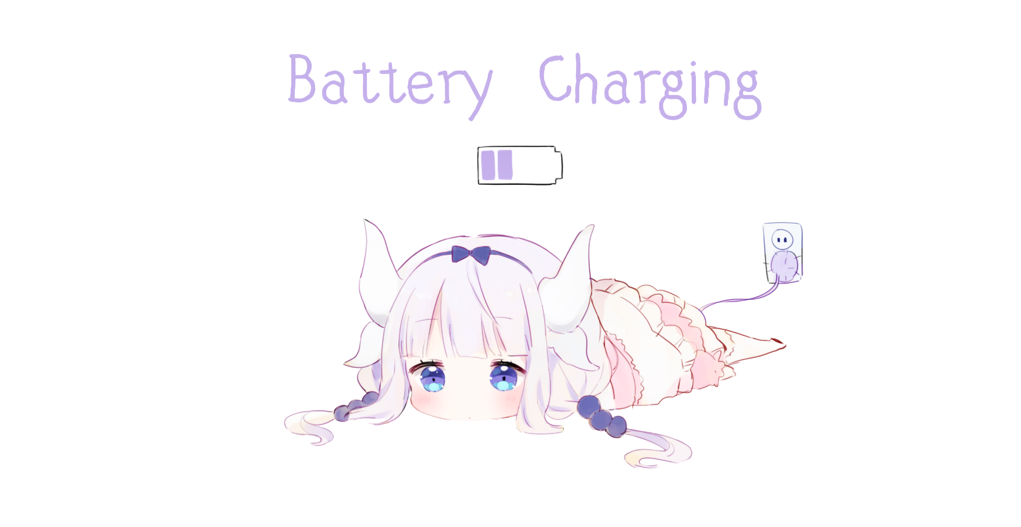 Anime 3503x1809 anime anime girls battery Kobayashi (Kobayashi-san Chi no Maid Dragon)