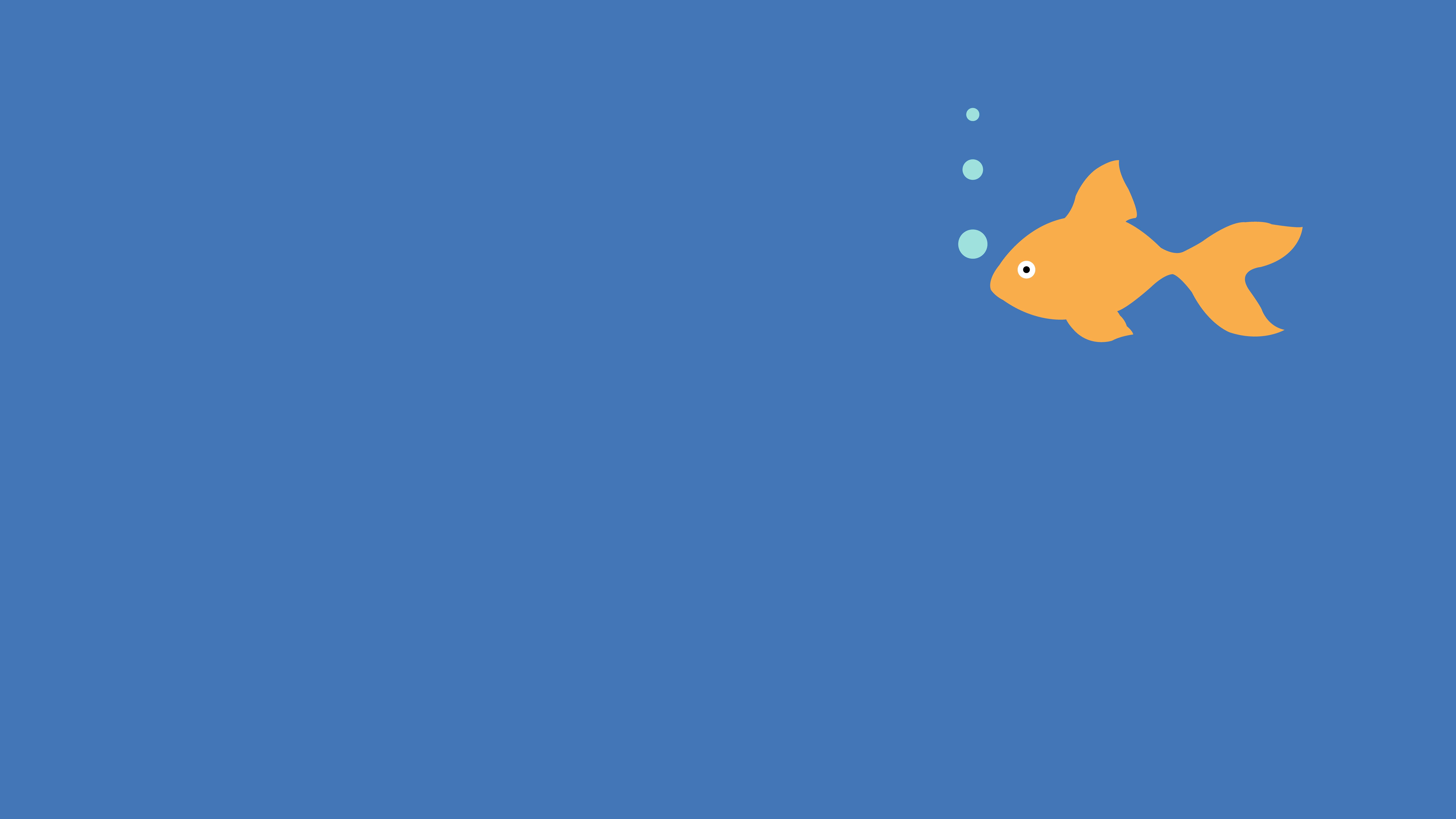 General 8000x4500 simple minimalism simple background Gold Fish Art
