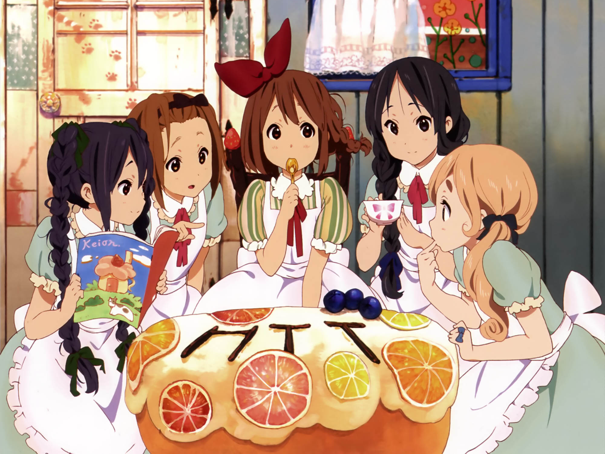Anime 2000x1500 K-ON! Nakano Azusa Hirasawa Yui Kotobuki Tsumugi Tainaka Ritsu Akiyama Mio