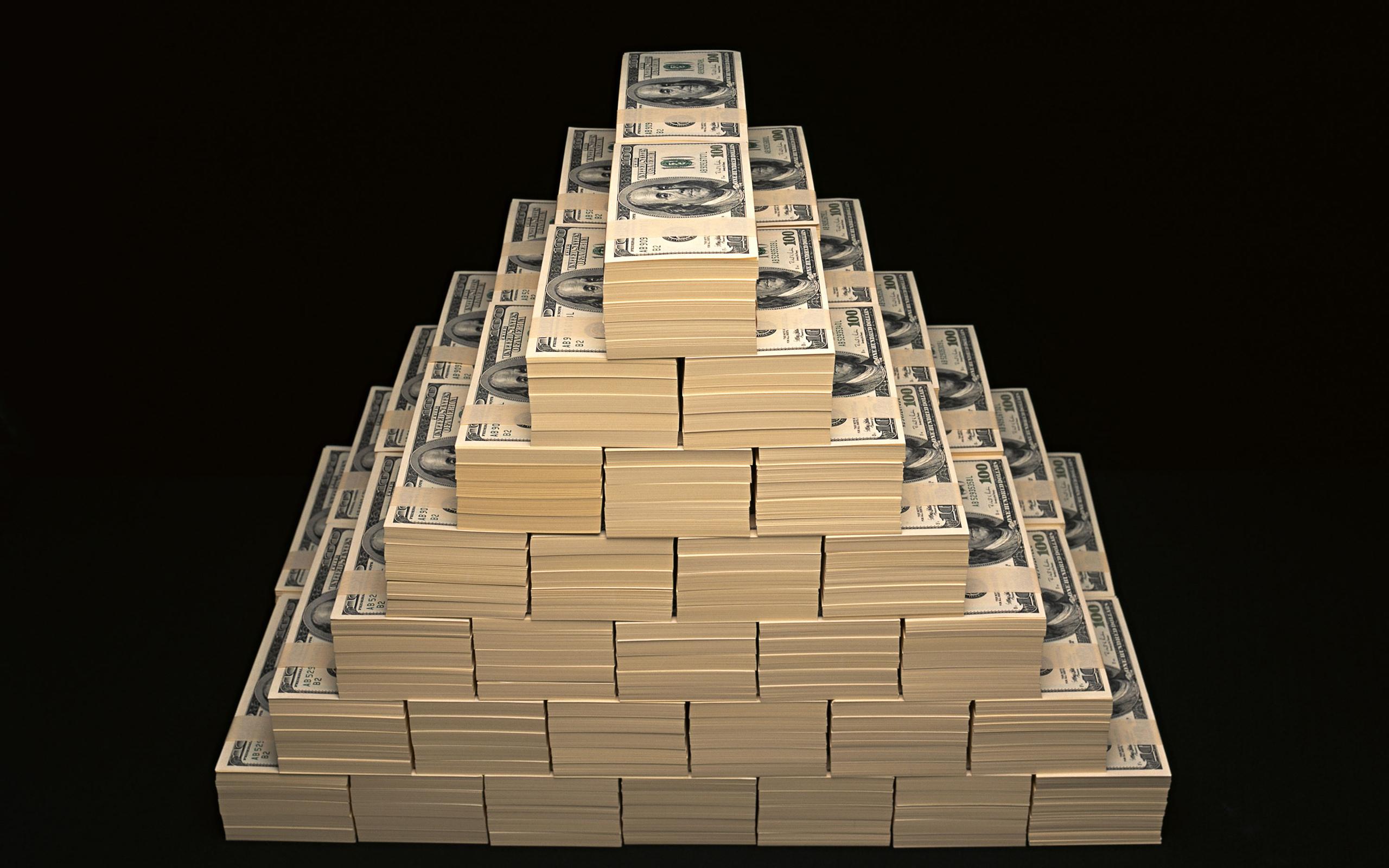 General 2560x1600 dollars money Wealth dark background high angle