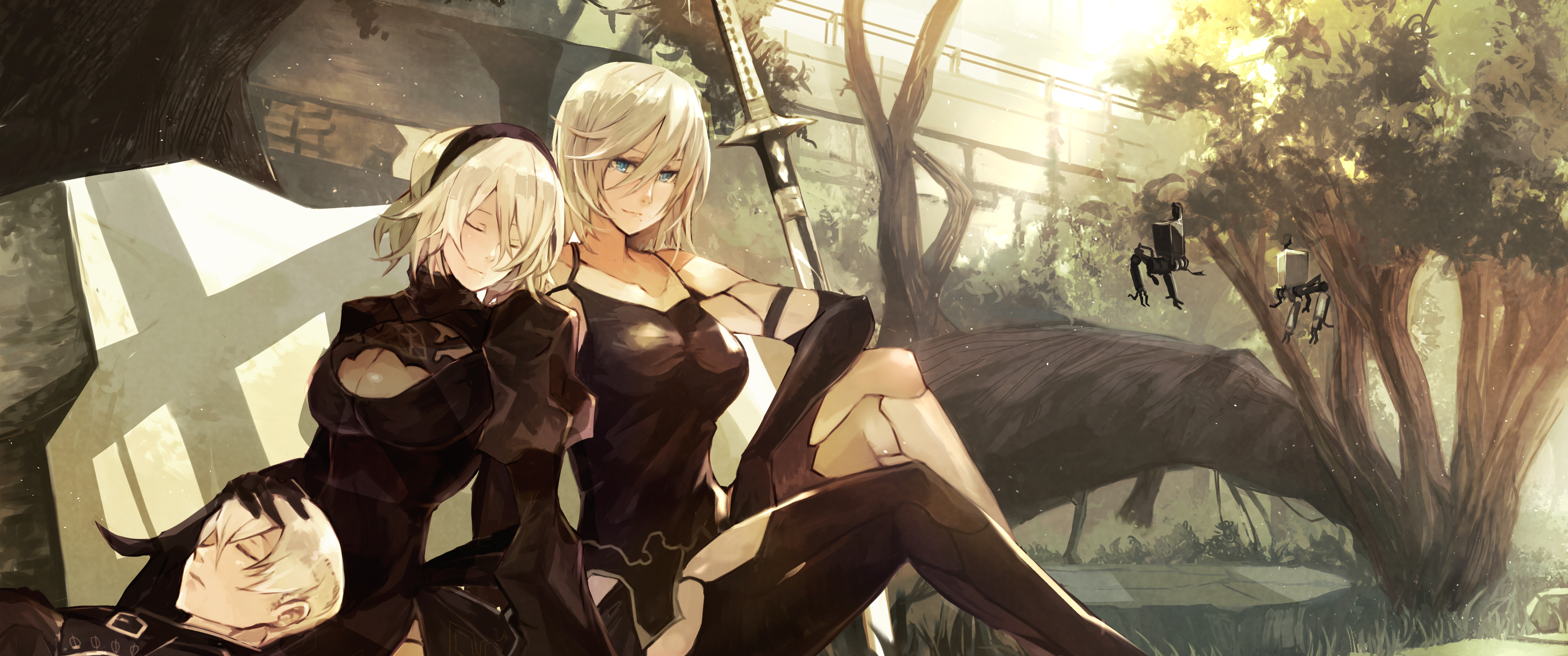 Girl With Weapon Nier Automata Nier 3440x1440 Wallpaper Wallhaven Cc