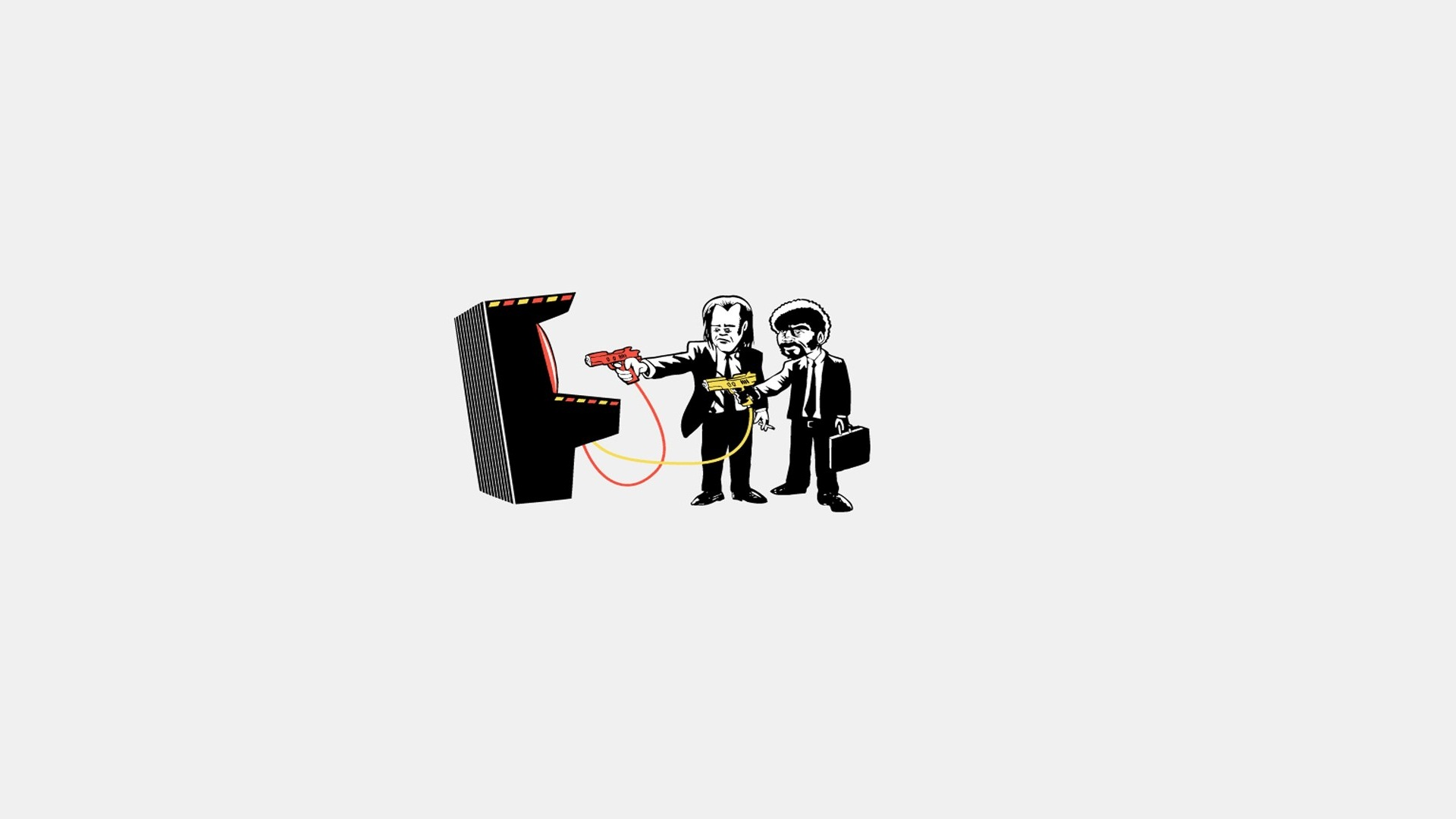 General 1920x1080 Pulp Fiction (parody) arcade  Pulp Fiction white background simple background