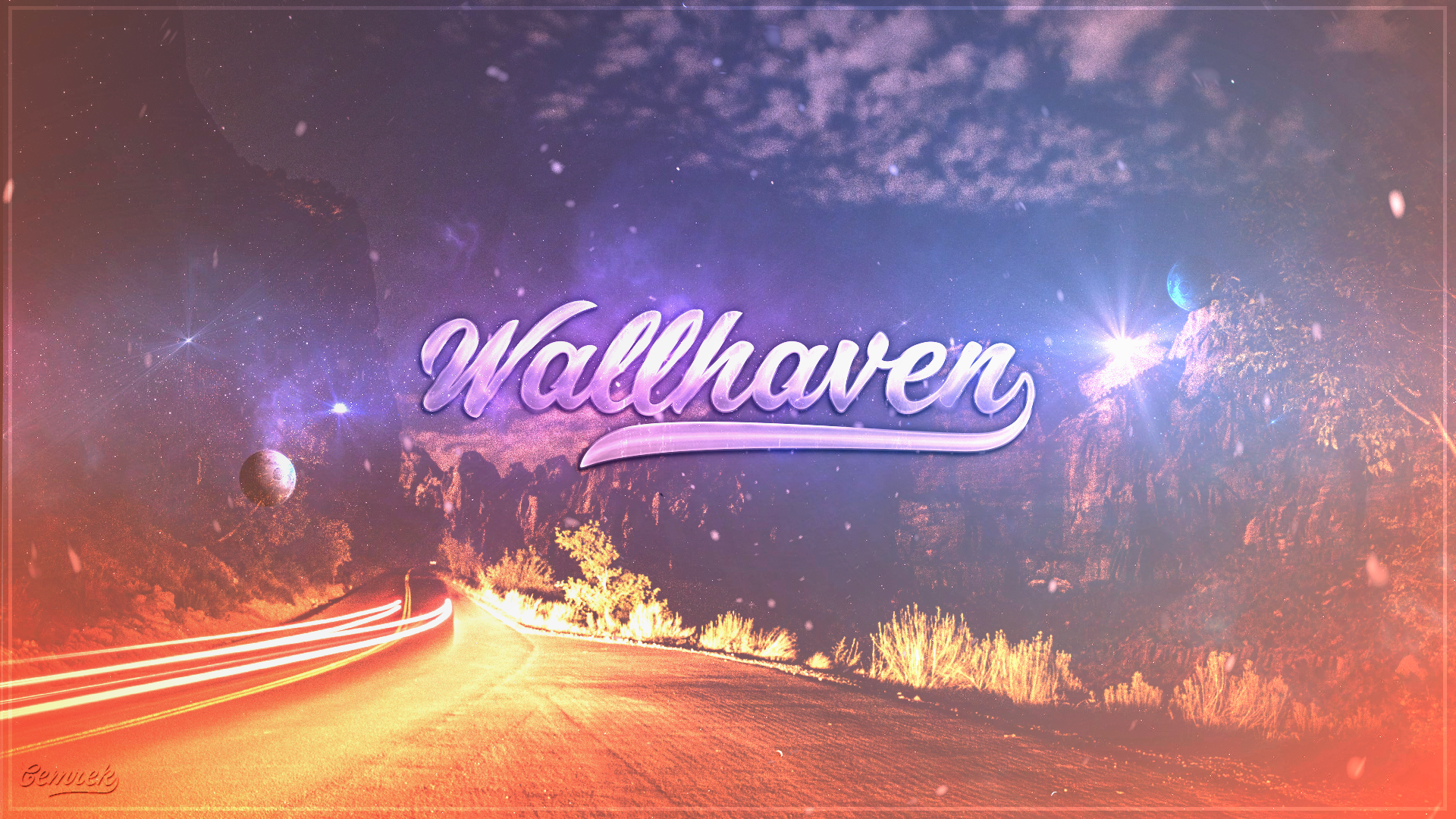 General 1920x1080 wallhaven metalanguage abstract space road flares