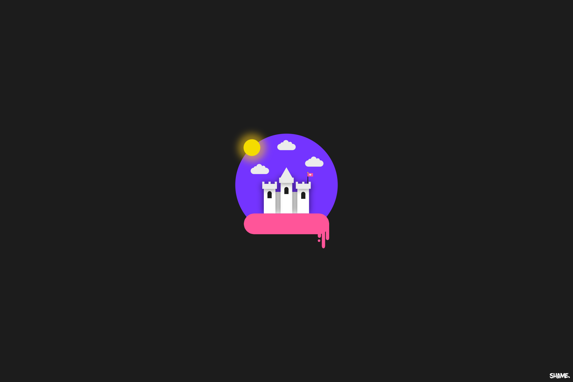 General 1920x1280 castle Flatdesign minimalism brightness