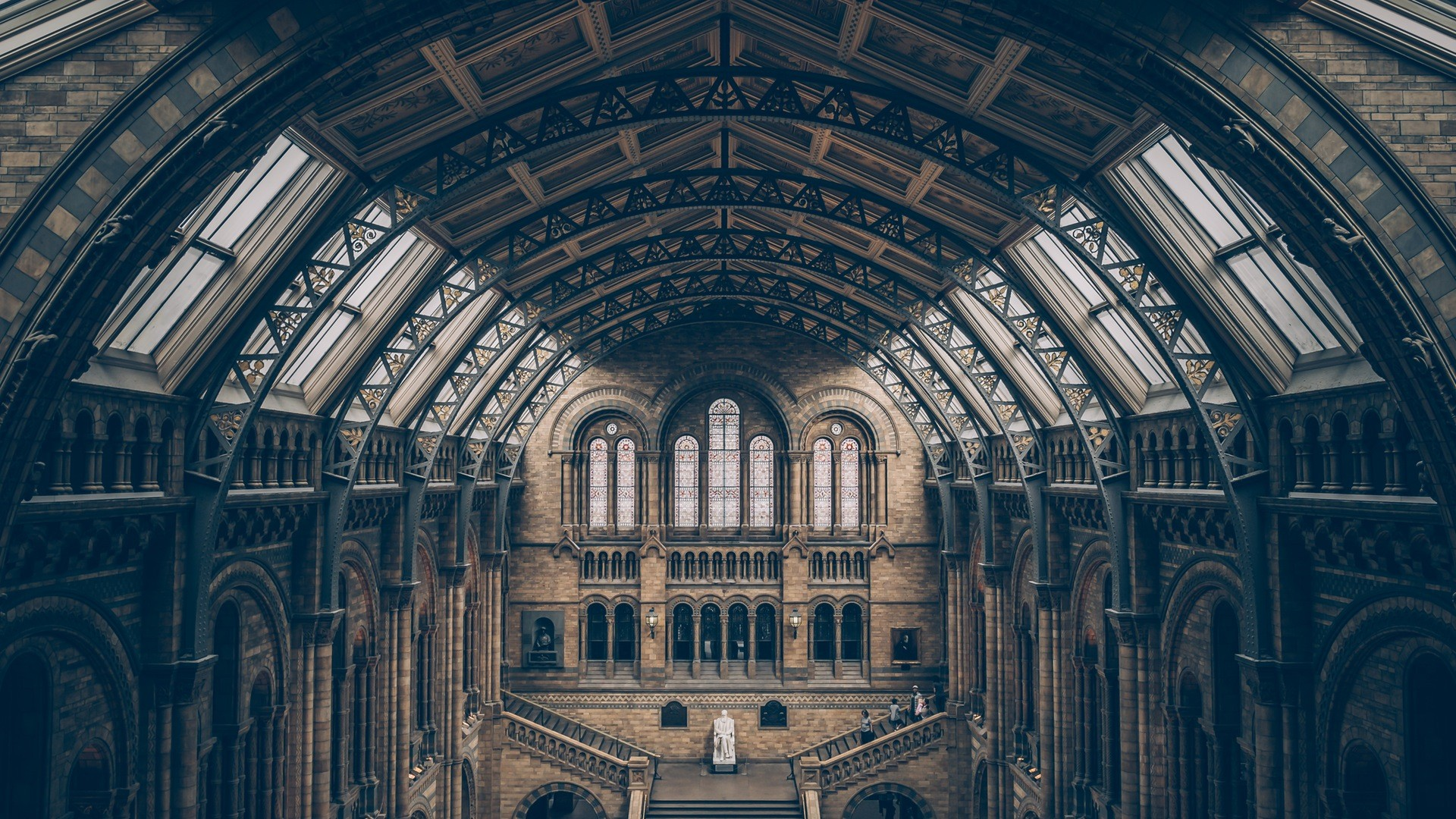 General 1920x1080 architecture building museum London UK England history interior arch stairs old building bricks