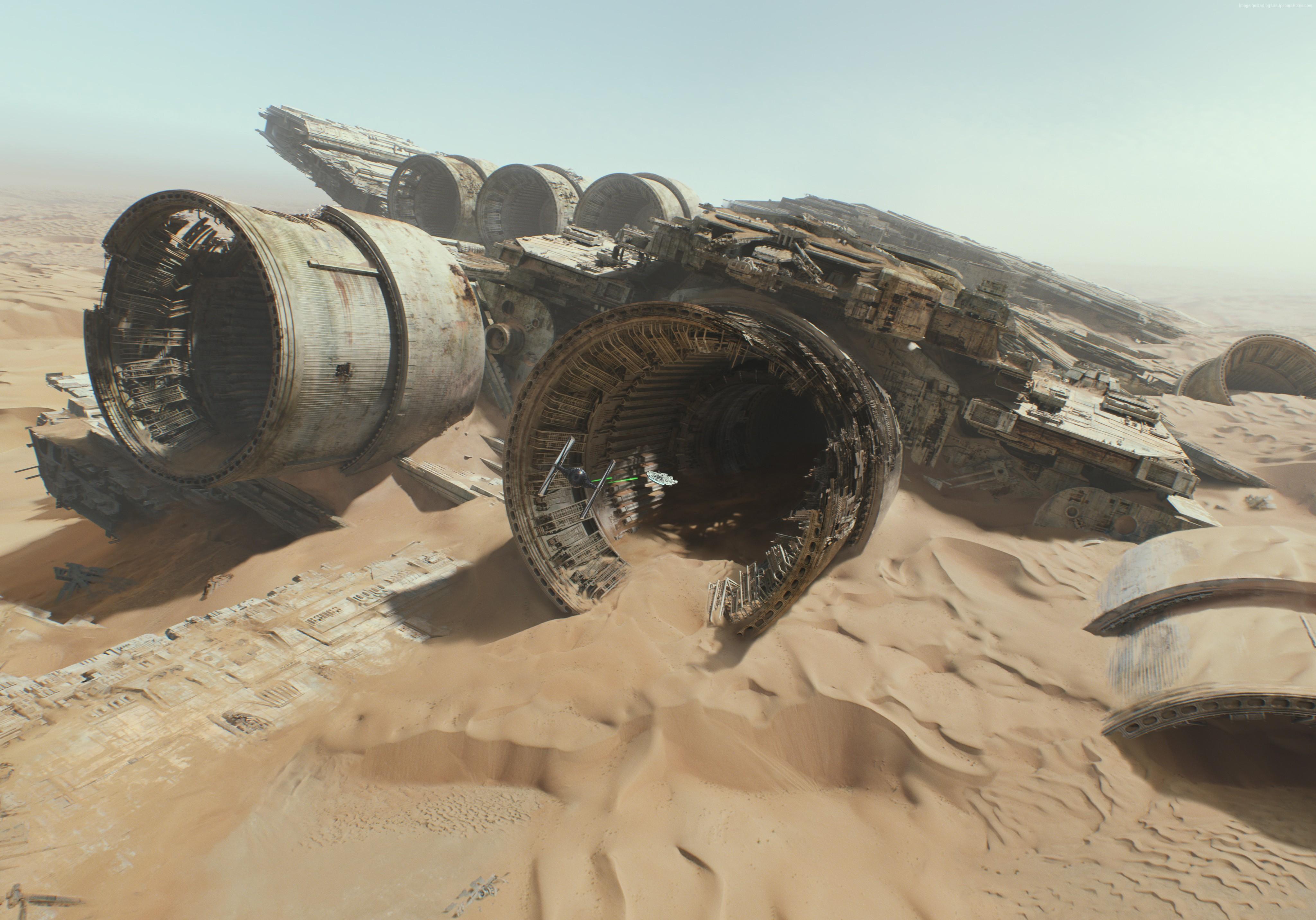 General 4096x2864 Star Wars Star Wars: The Force Awakens Star Destroyer desert crash wreck Star Wars Ships