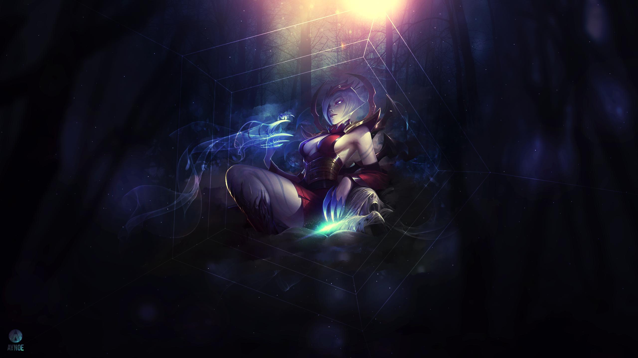 General 2560x1440 League of Legends PC gaming fantasy girl dark video games