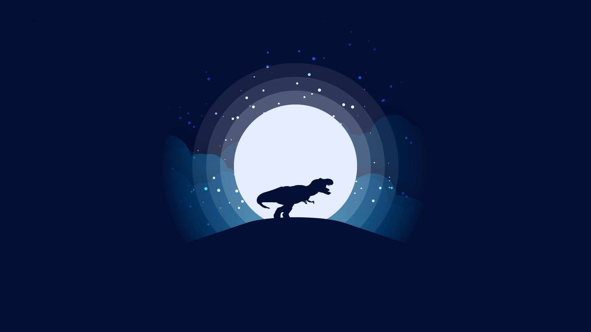 General 1920x1080 dinosaurs Luna simple background Tyrannosaurus rex
