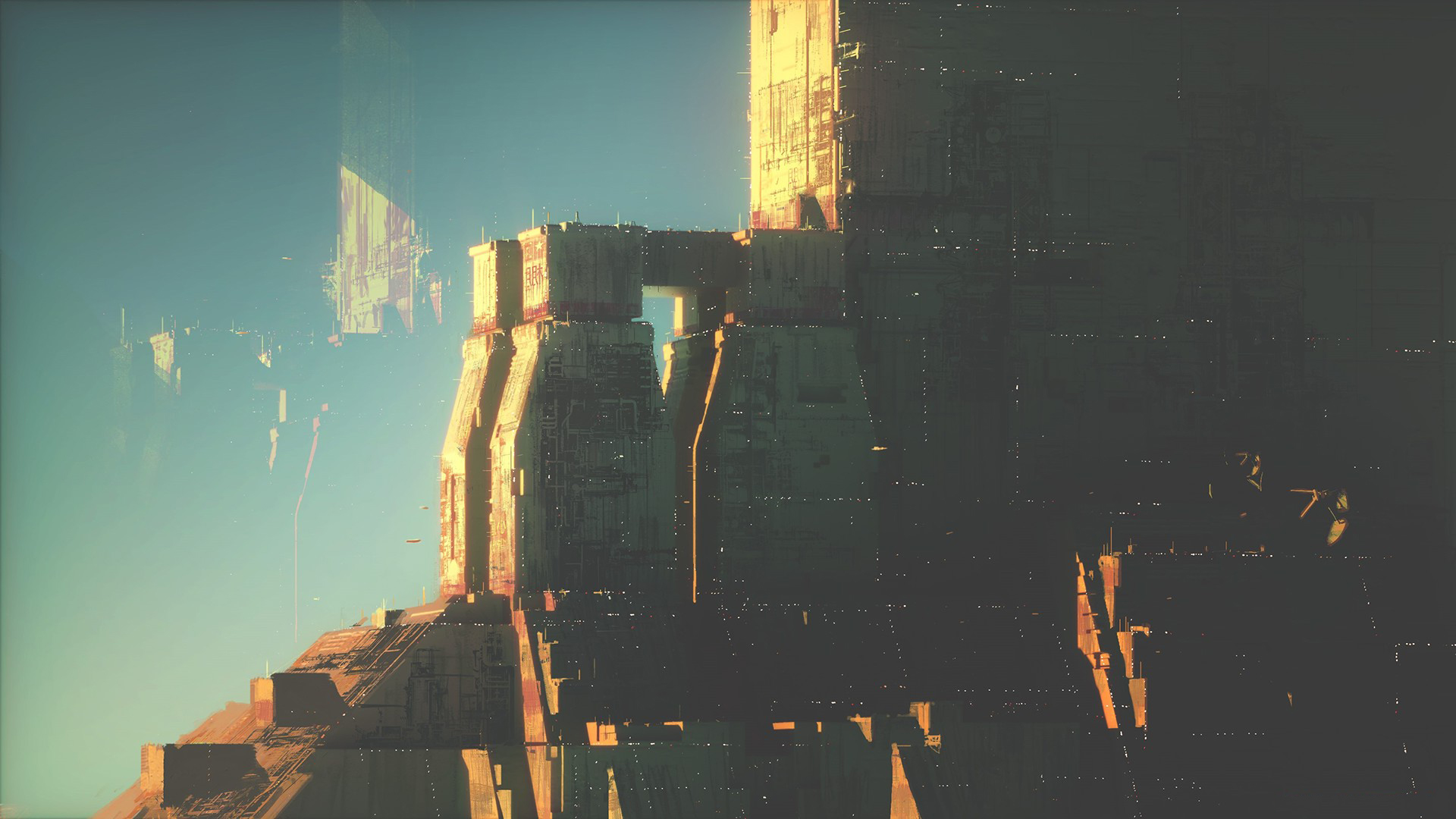 General 1920x1080 science fiction space futuristic abstract Star Wars city