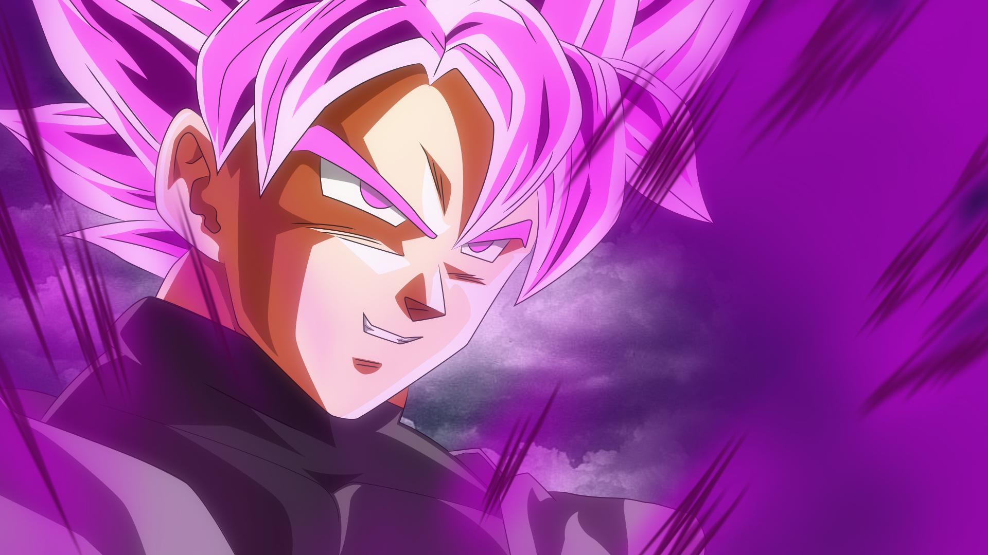 Anime 1920x1080 Dragon Ball Super Black Goku SSJ Rosé Super Saiyajin Rosé Super Saiyan Rosé Dragon Ball