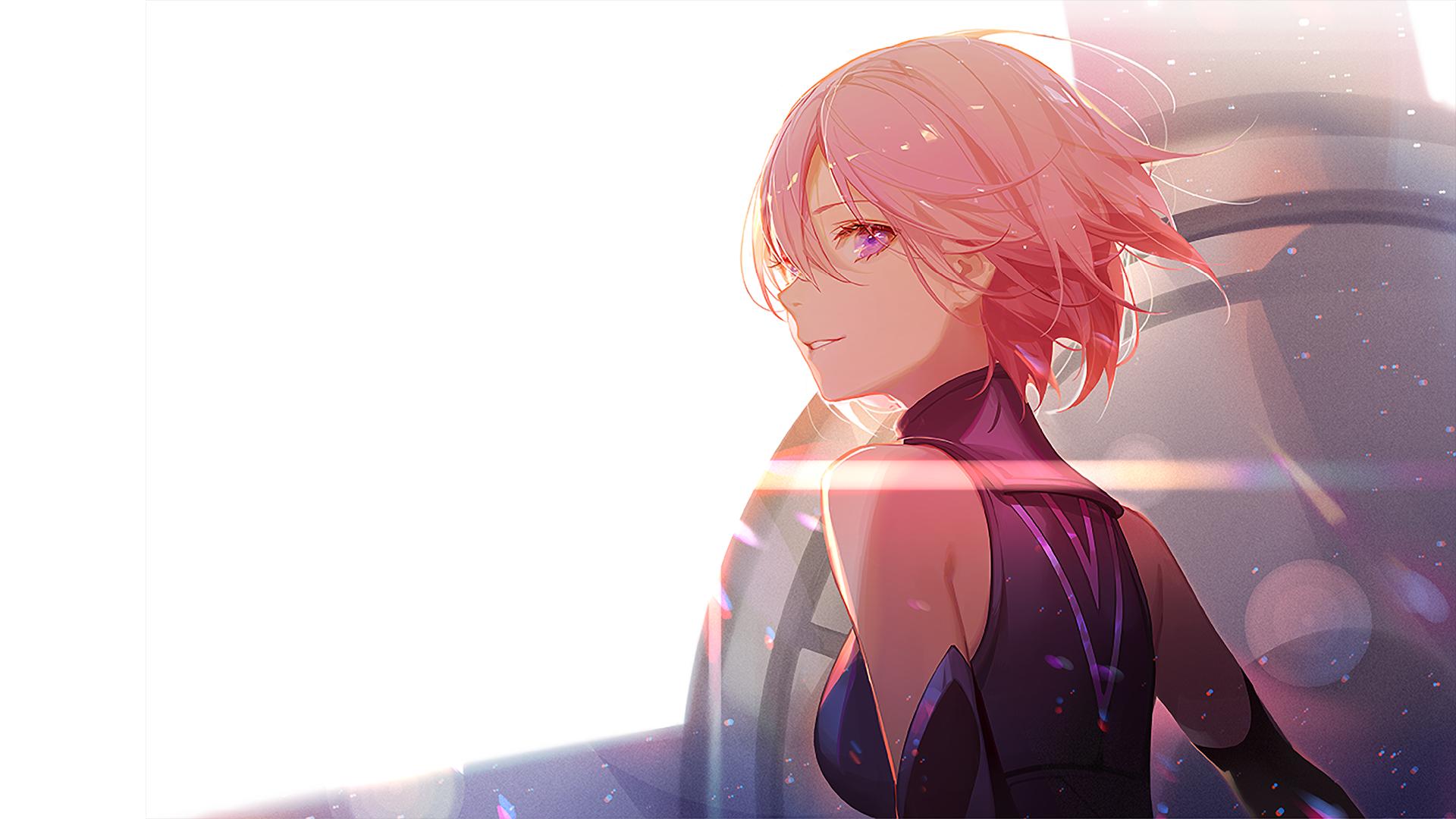 Anime 1920x1080 Fate/Grand Order anime anime girls Shielder (Fate/Grand Order) Fate Series pink hair ASK (artist)