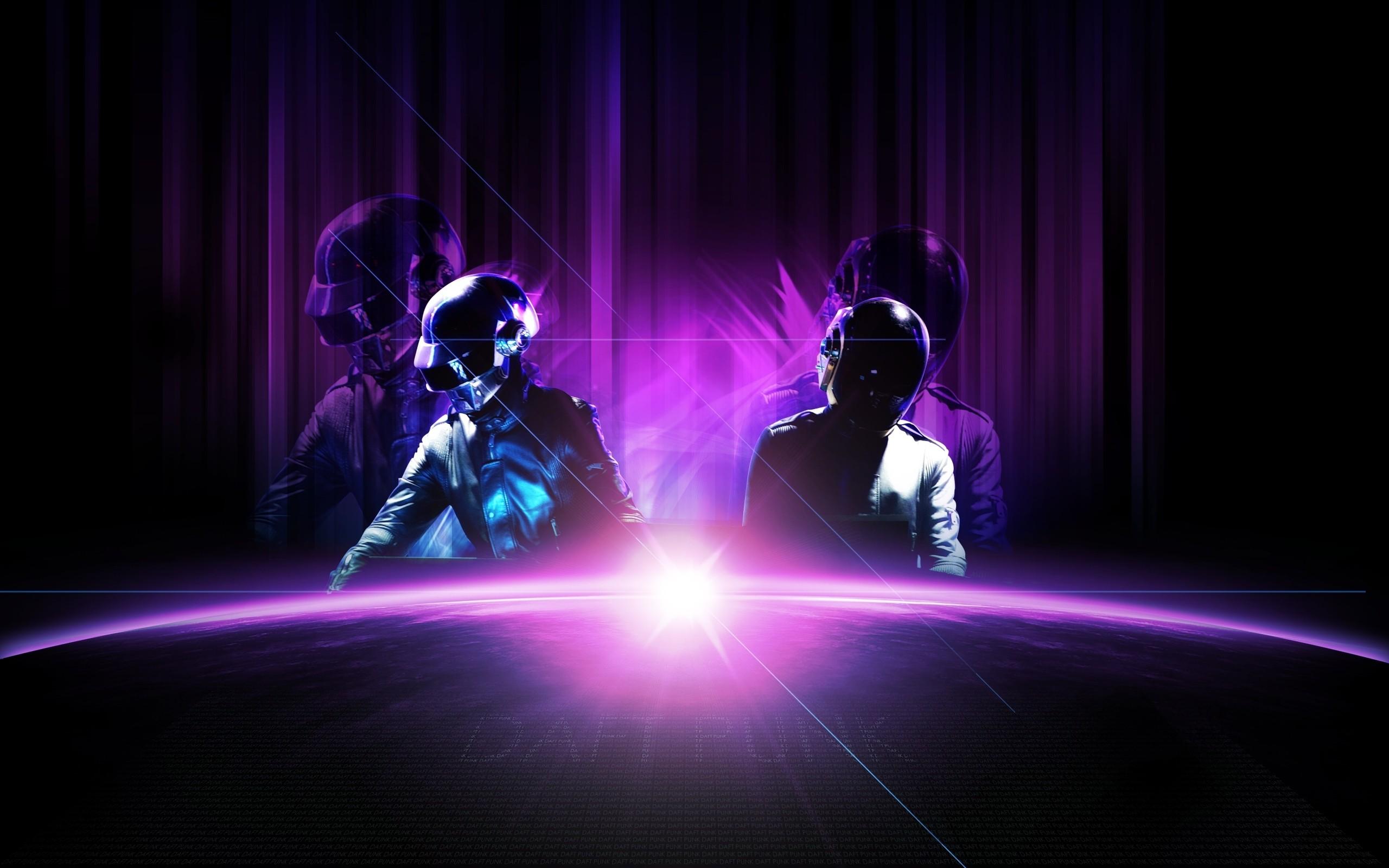 General 2560x1600 music Daft Punk purple electronic music digital art planet Daft Punk #epilogue