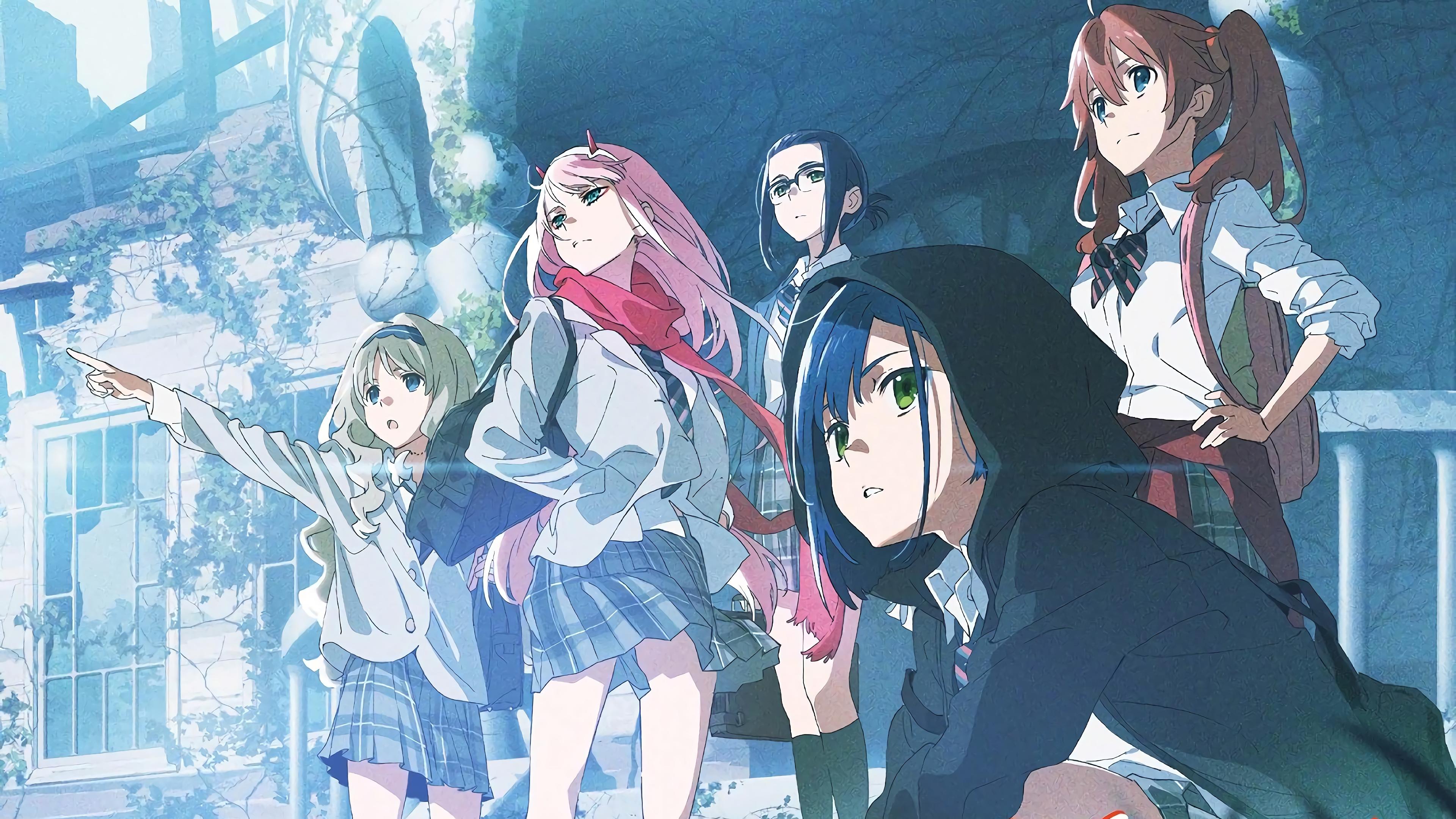 Anime 3840x2160 Ichigo (Darling in the FranXX) Code:196 (Ikuno) anime Zero Two (Darling in the FranXX) Darling in the FranXX Code:556 (Kokoro) Code:390 (Miku)