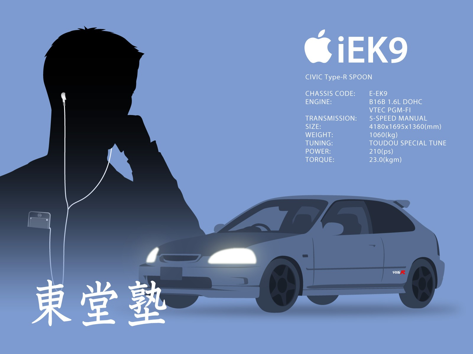 Anime 1600x1200 Initial D simple background Ipod