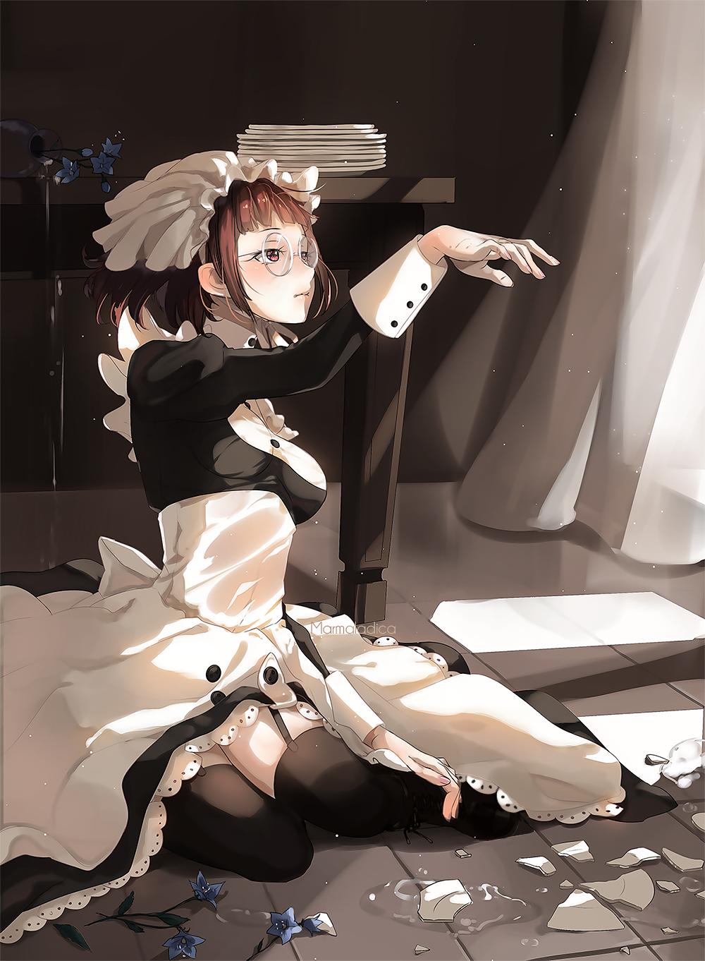 Anime 1000x1362 Kuroshitsuji  anime girls anime glasses stockings dress