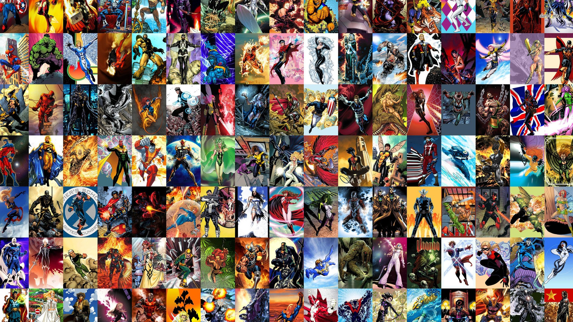 General 1920x1080 Marvel Comics Spider-Man Hulk The Punisher Ms. Marvel Moon Knight Daredevil Scarlet Witch Wolverine Captain America Iron Man Thor Hawkeye Silver Surfer Black Cat (character) Black Panther Black Widow The Vision Ghost Rider Deadpool Nick Fury She-Hulk Iron Fist Doctor Strange Gambit War Machine