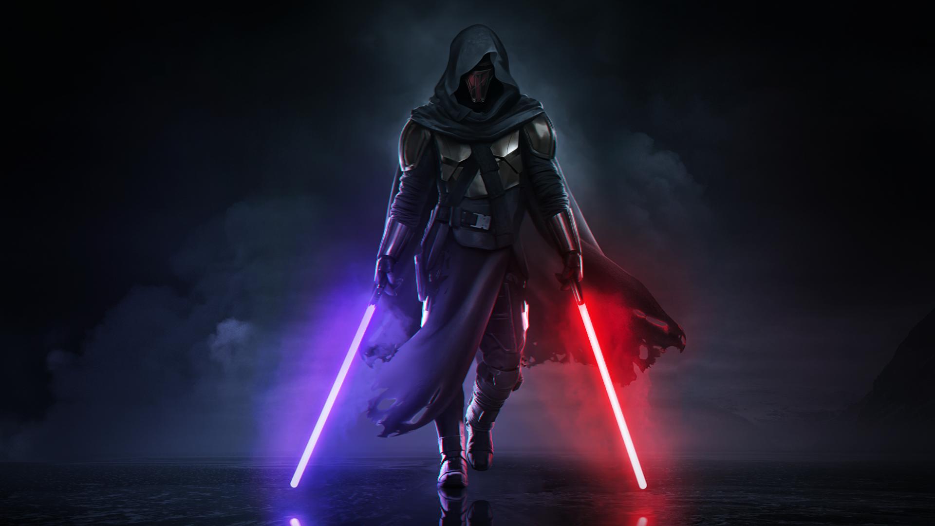 General 1920x1080 Darth Revan Star Wars purple light lightsaber