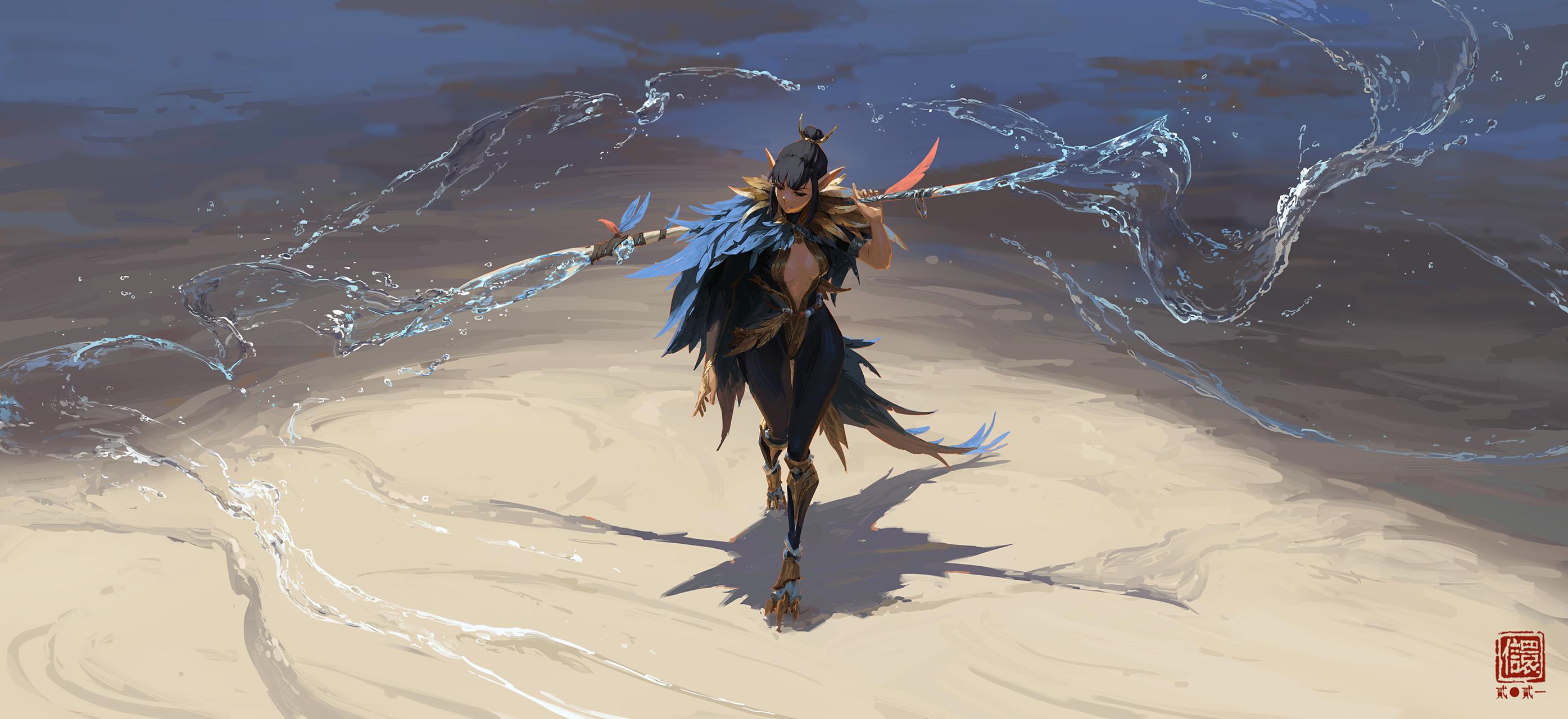 General 2790x1280 ArtStation Kan Liu women artwork digital art fantasy art fantasy girl