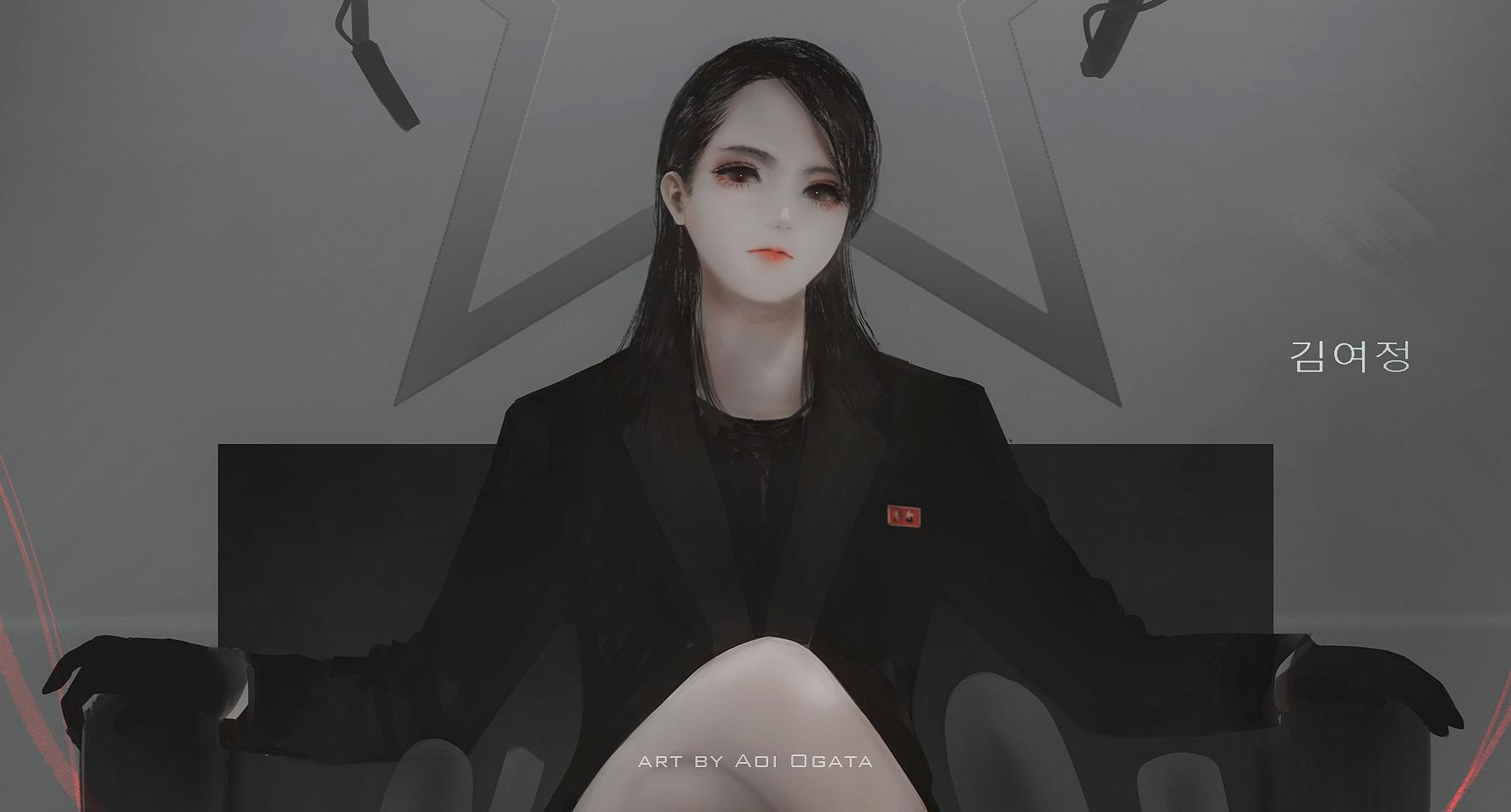 Anime 1786x960 anime anime girls Aoi Ogata fan art dictators Kim Yo-jong