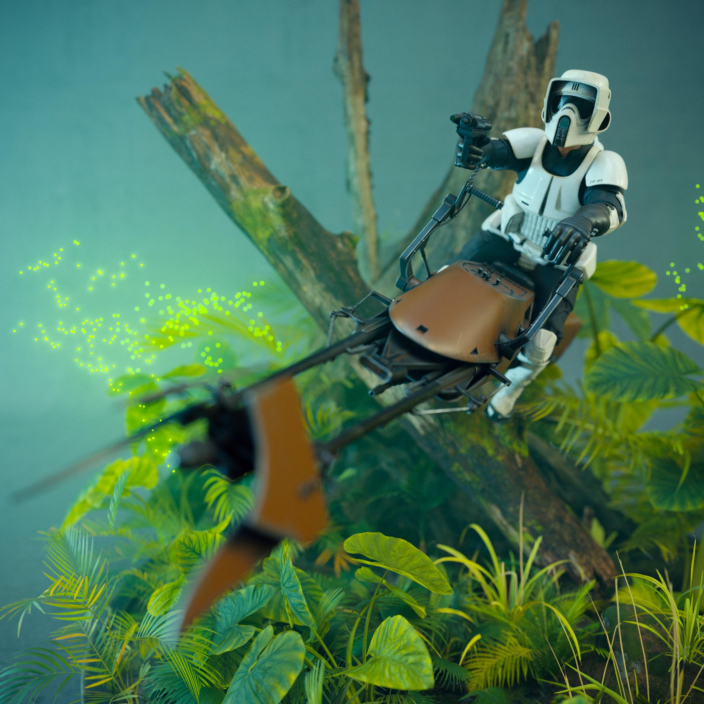 General 2400x2400 speeder bike scout trooper Star Wars Imperial Forces toys ArtStation action figures