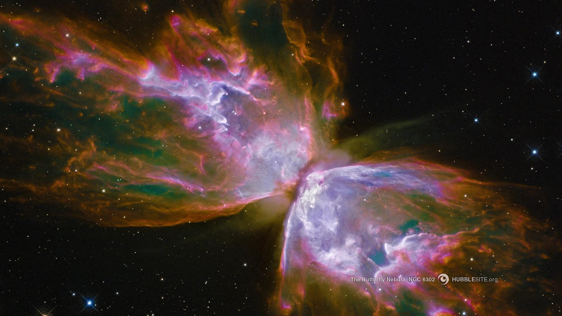General 1920x1080 space Hubble space art digital art Butterfly Nebula nebula Hubble Deep Field