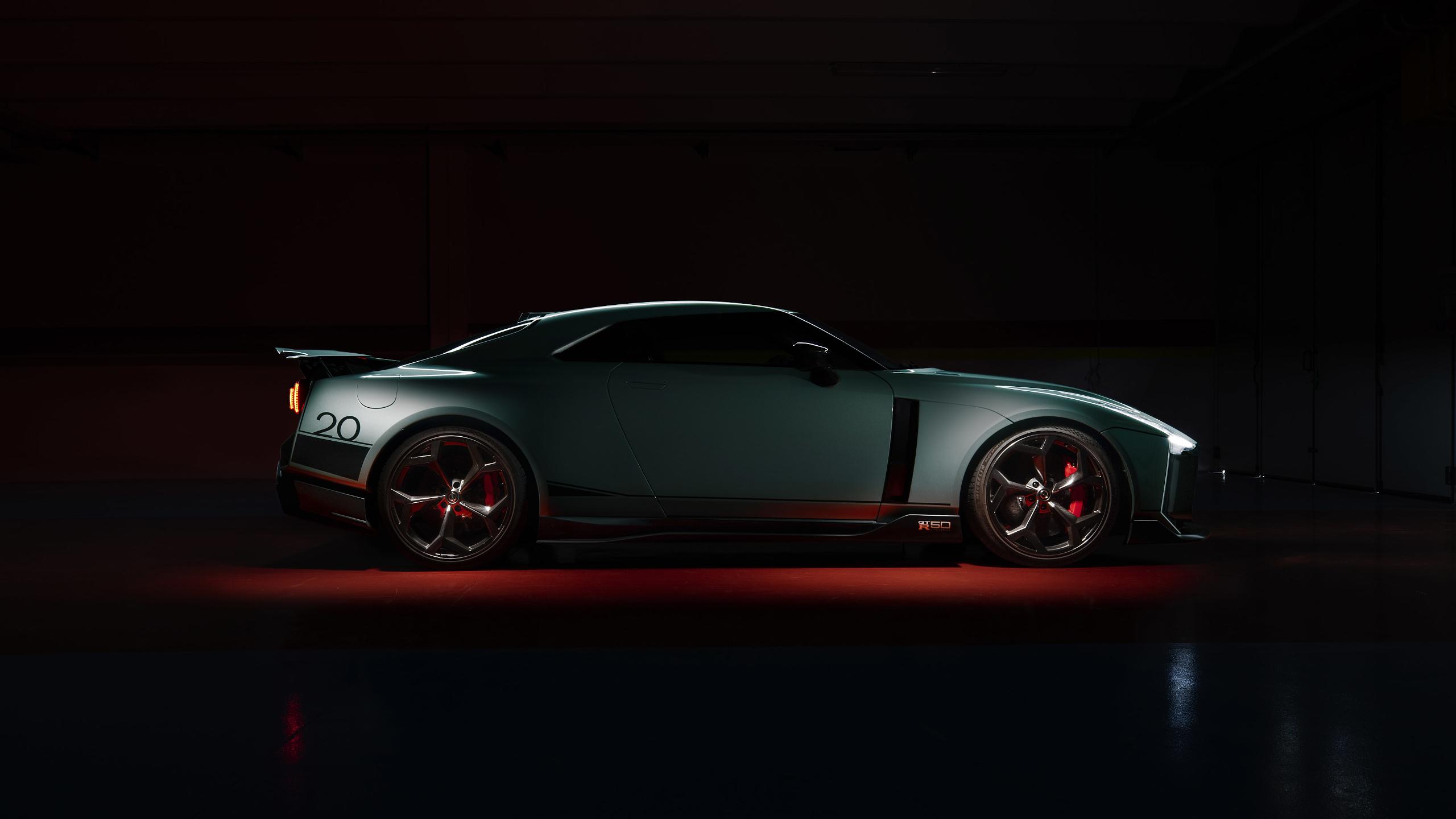 General 2560x1440 Nissan GT-R50 italdesign vehicle car supercars low light spotlights