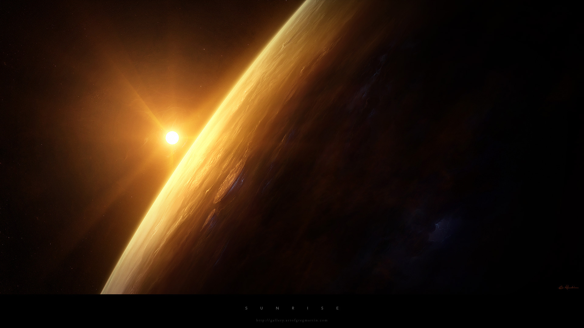General 1920x1080 space sunlight planet