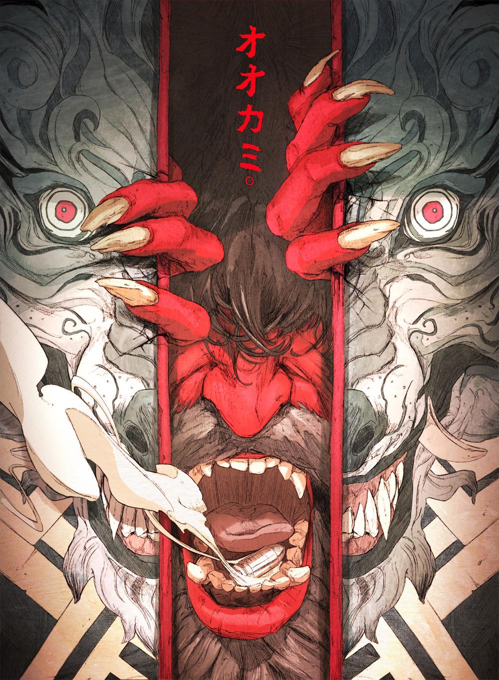 General 1000x1362 Chun Lo artwork digital demon red eyes