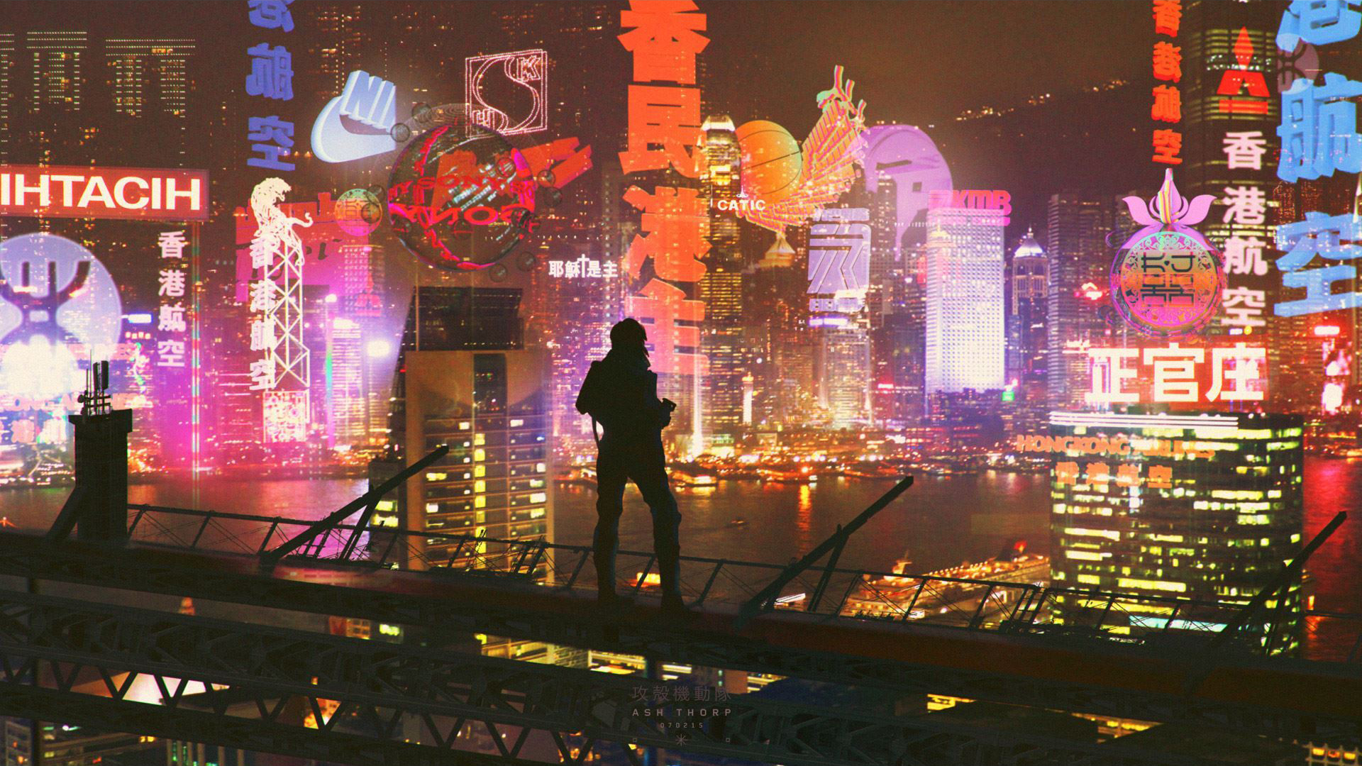 General 1920x1080 Ghost in the Shell cityscape cyberpunk