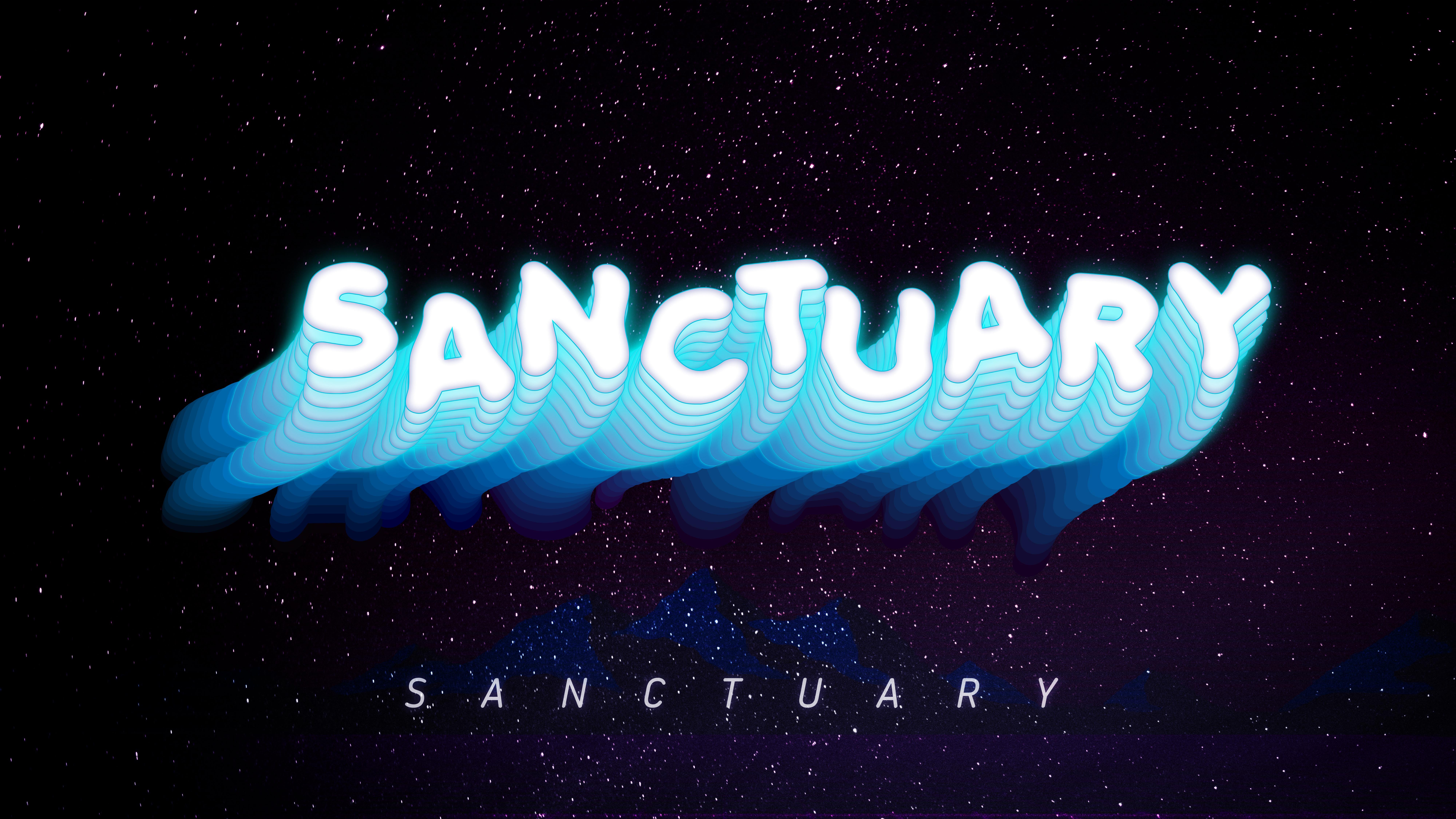 General 8000x4500 space vaporwave futuristic sanctuary