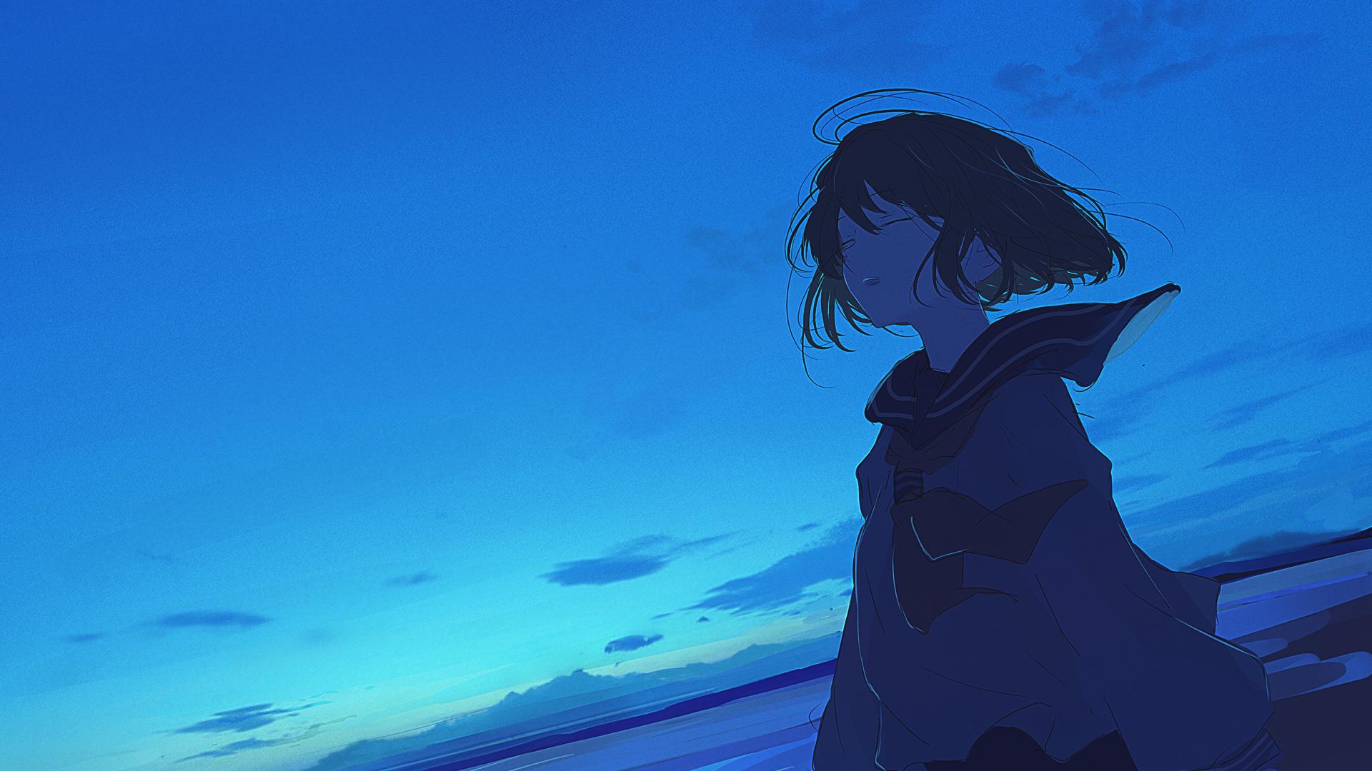 Anime 1920x1080 anime girls anime sky moescape