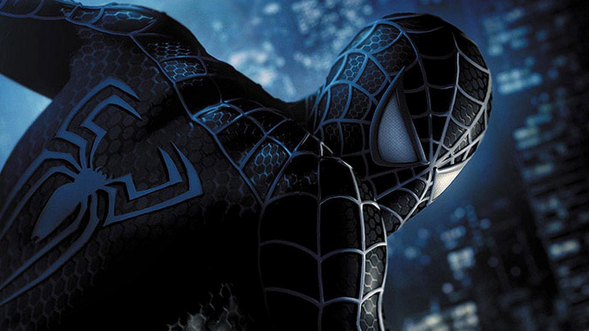 General 1920x1080 black suit Spider-Man 3 Spider-Man superhero movies Marvel Comics