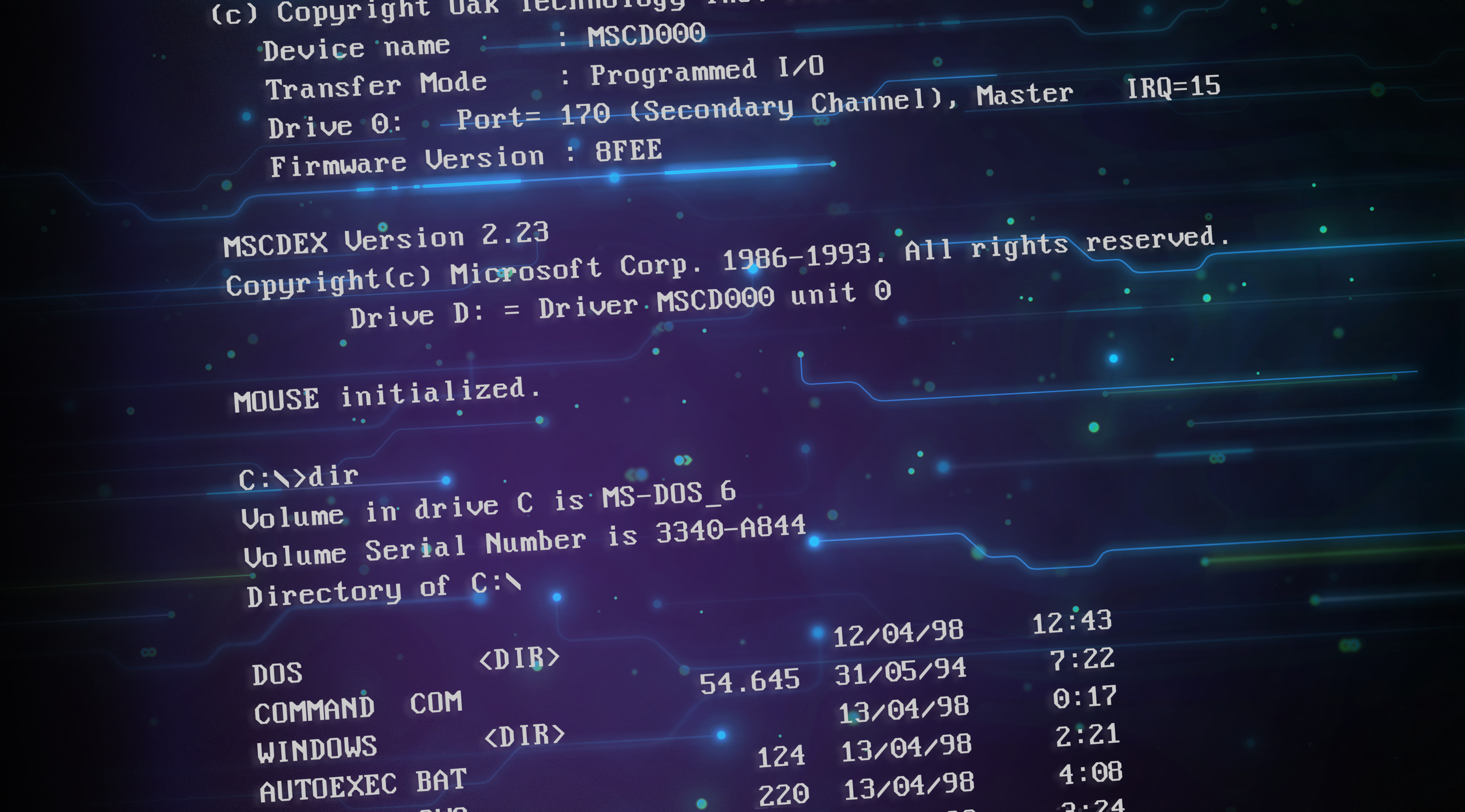 General 3860x2140 MS-DOS computer operating system technology numbers