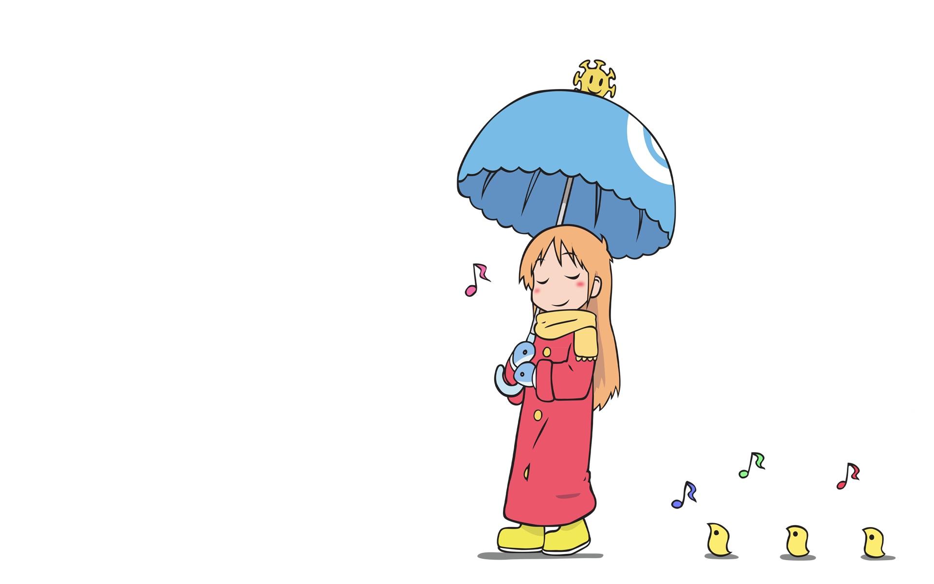 Anime 1920x1200 Shinonome Hakase Nichijou anime simple background simple