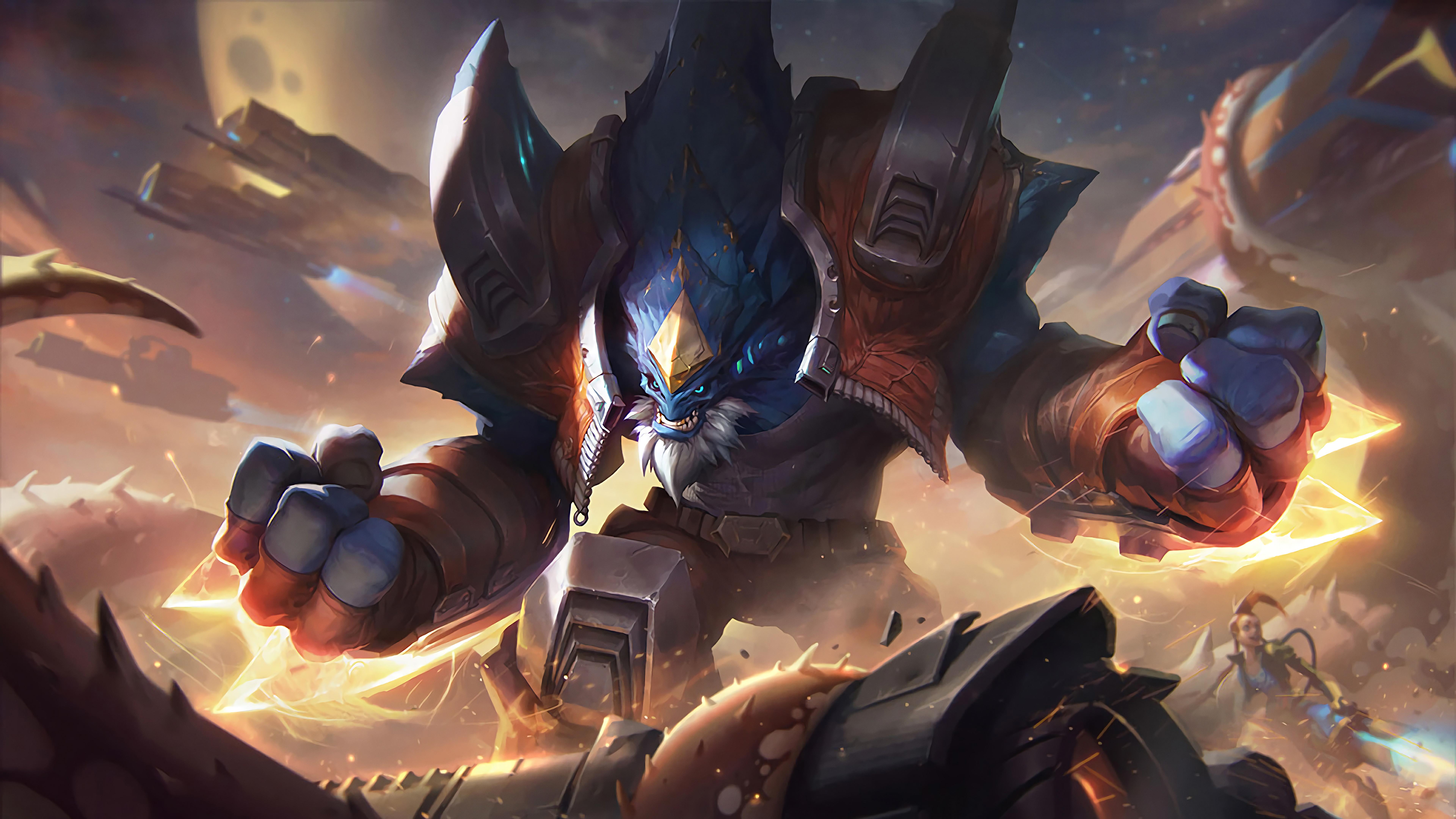General 7680x4320 League of Legends Malphite Jinx