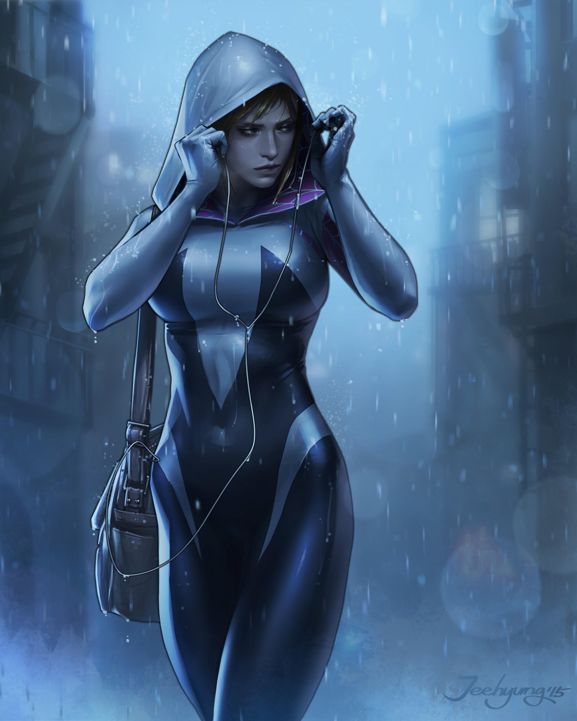 General 1920x2398 fantasy art Lee Jeehyung Spider Gwen Spider-Man Spider-Gwen women