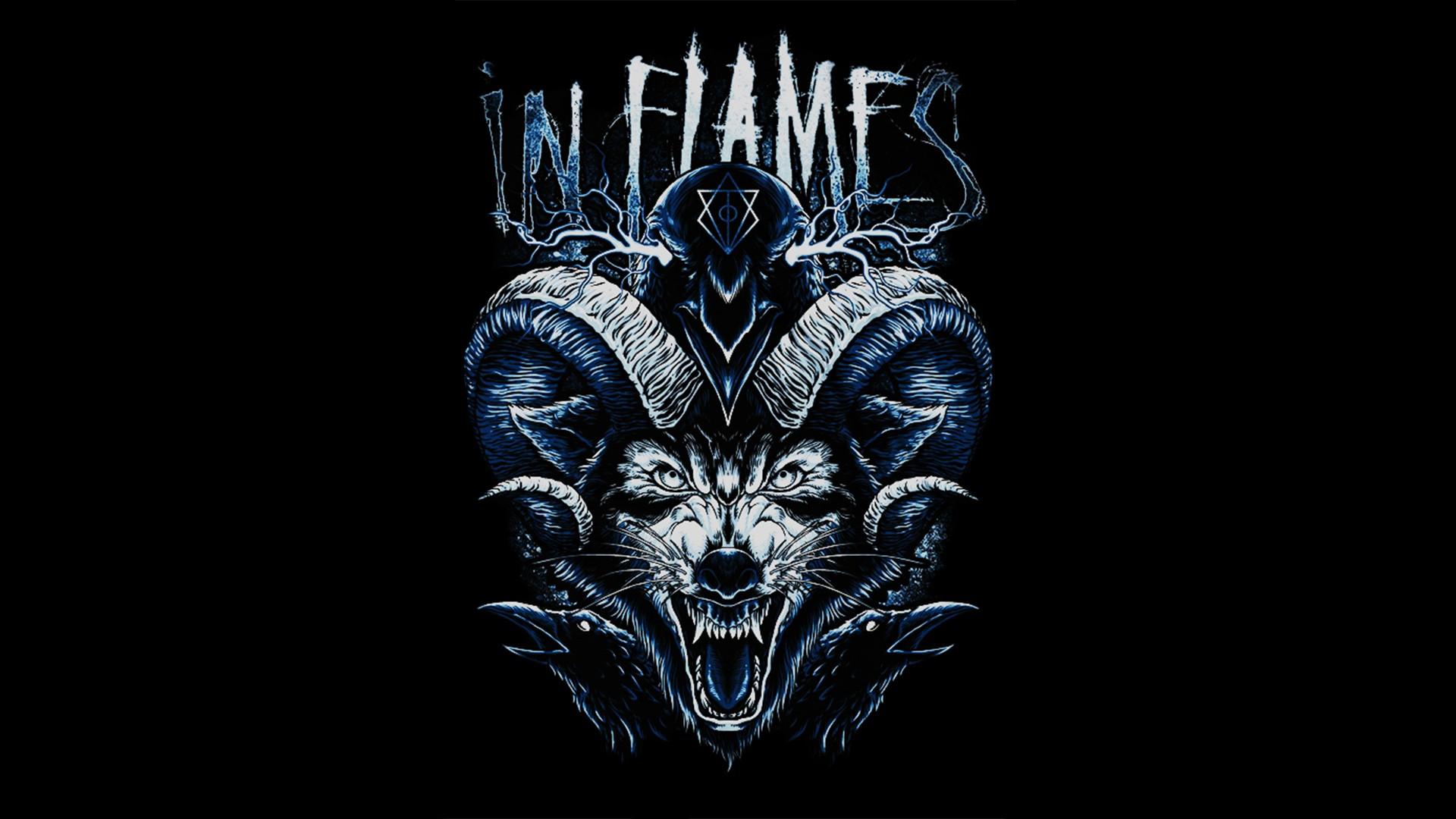 General 1920x1080 In Flames wolf raven Jesterhead metal music rock music rock bands metal band melodic death metal heavy metal alternative metal  Metalcore