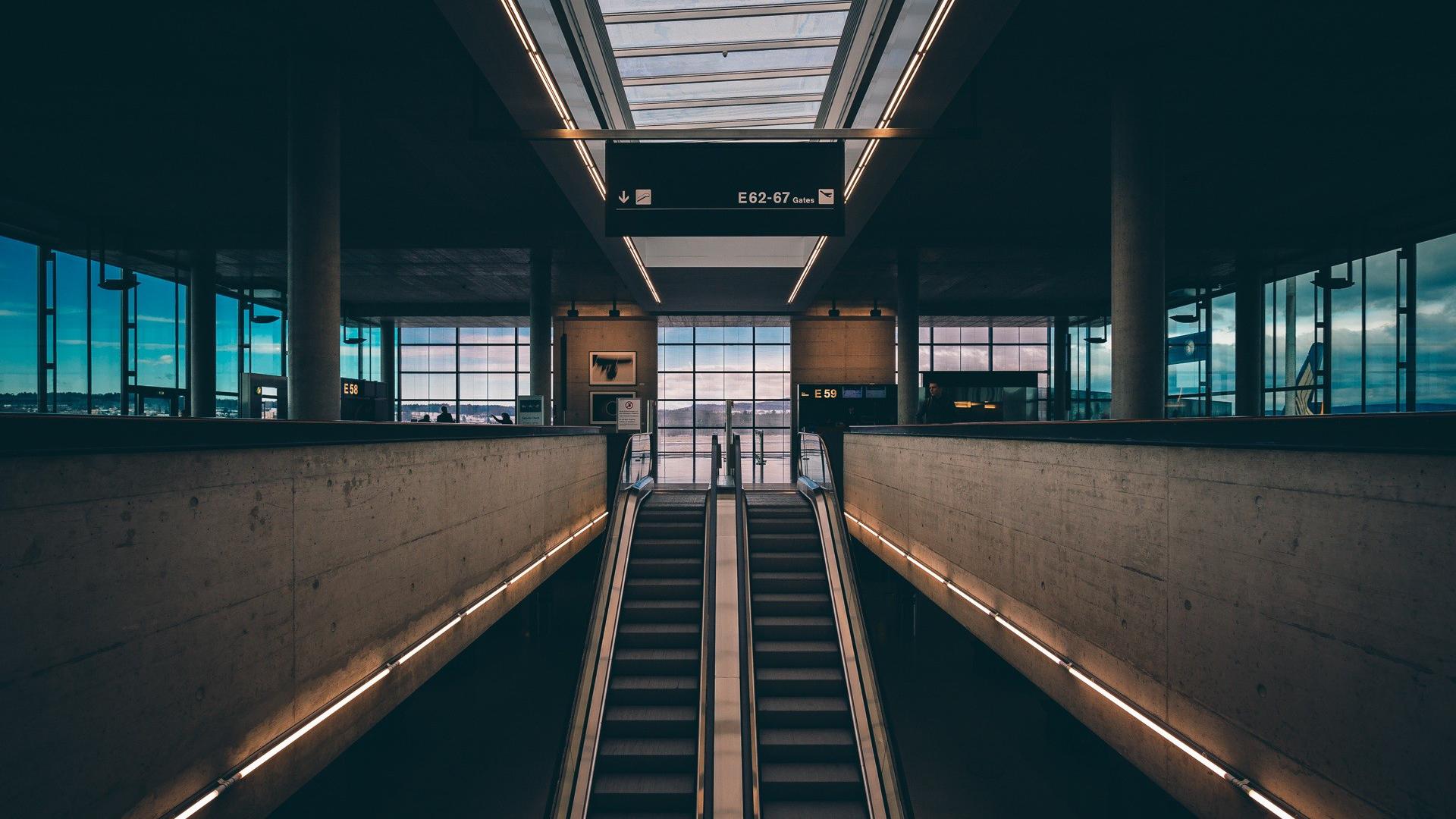 General 1920x1080 escalator airport building numbers