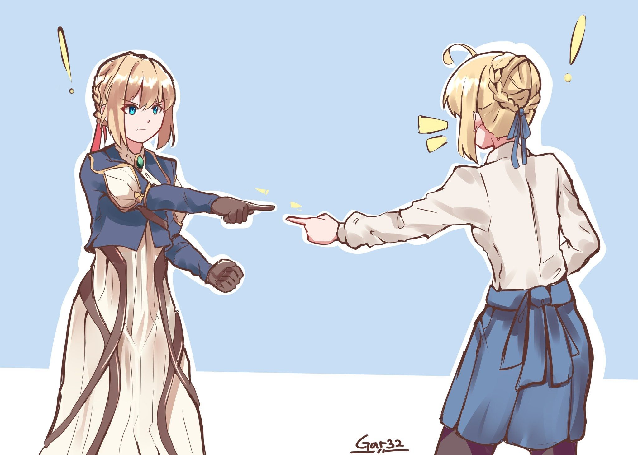 Anime 2048x1463 Fate/Stay Night Violet Evergarden (anime) Saber Violet Evergarden anime girls crossover Fate Series