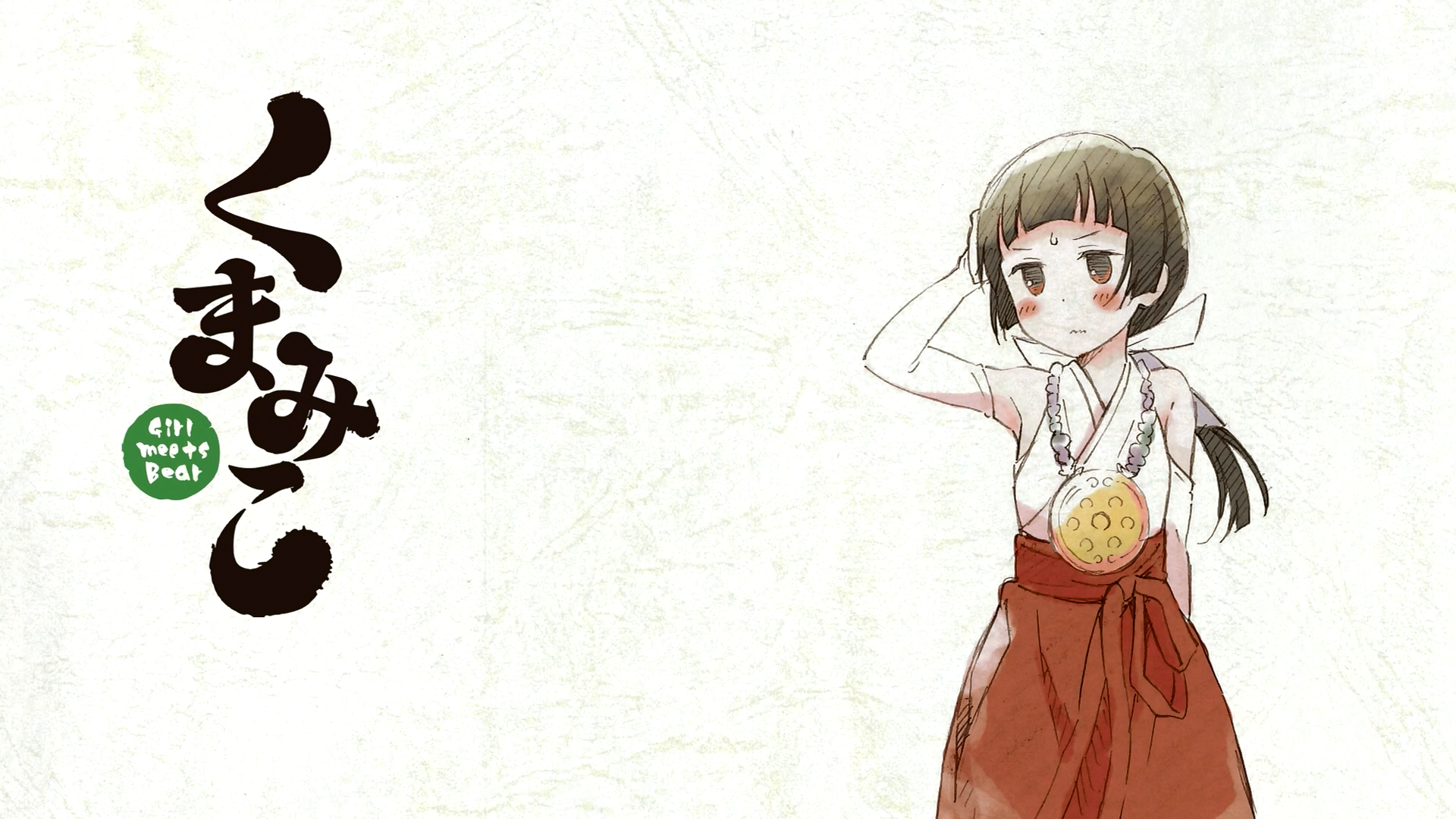 Anime 1920x1080 Kuma Miko anime girls Machi Amayadori