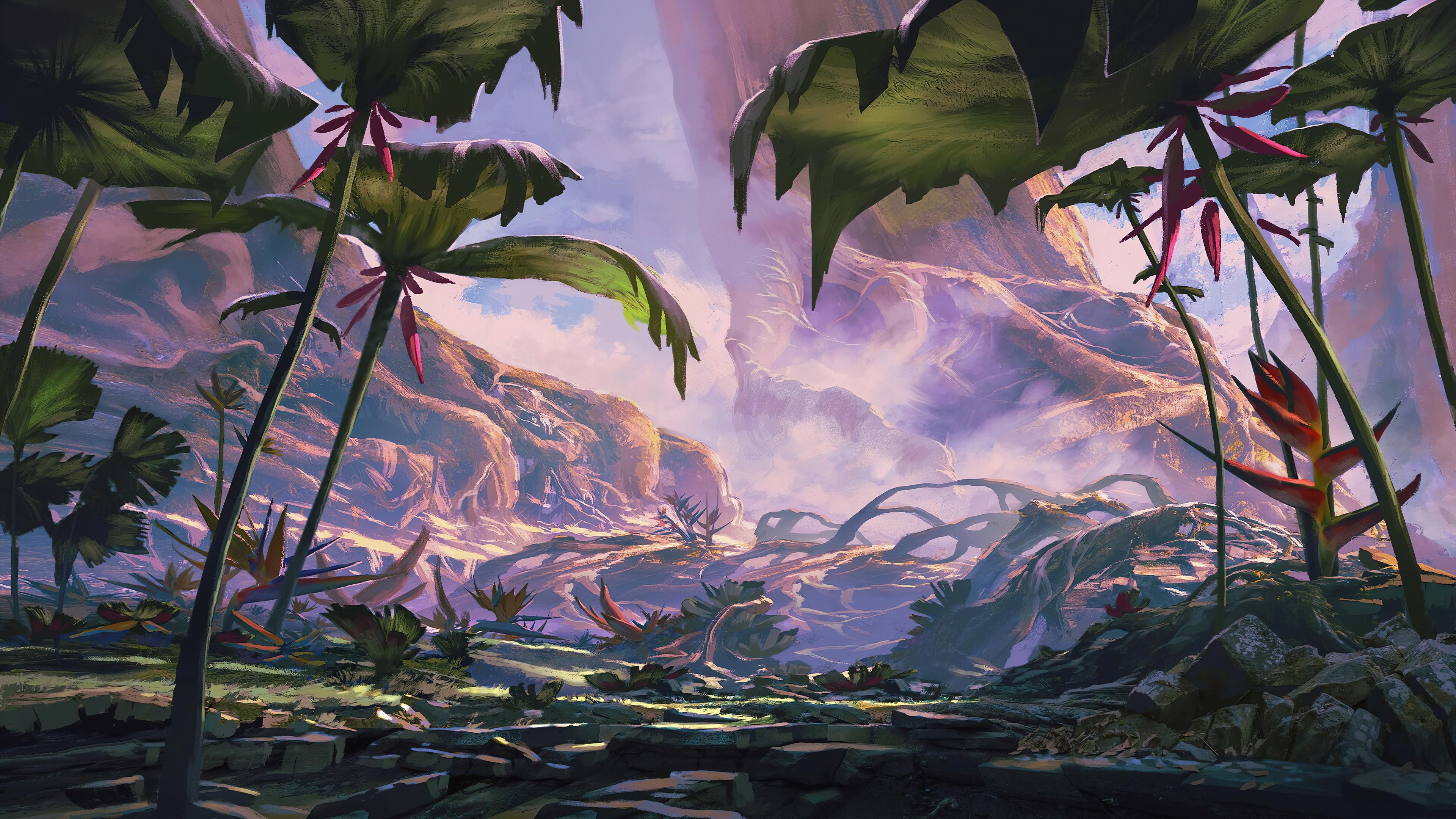 General 3840x2160 fantasy art plants Monster Hunter: World
