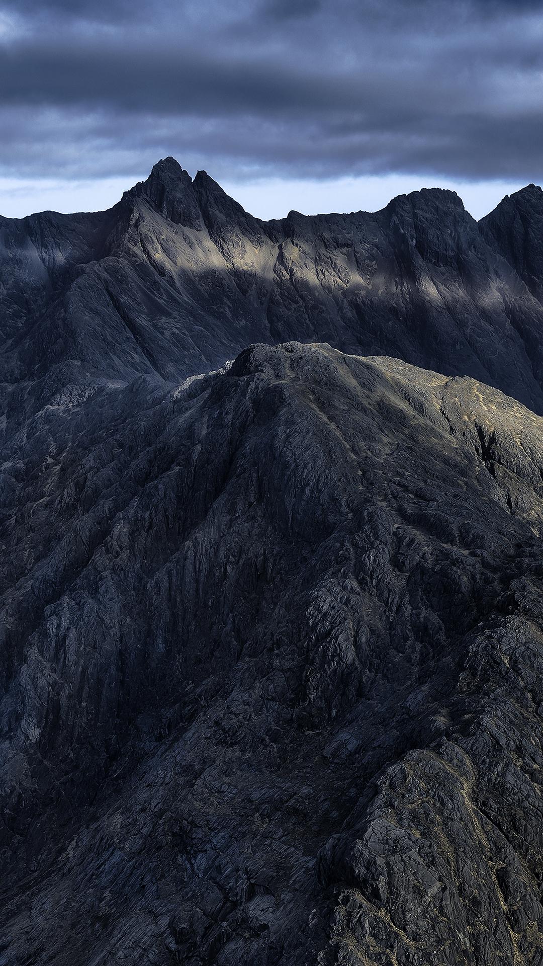 General 1080x1920 nature landscape portrait display mountains sunlight clouds