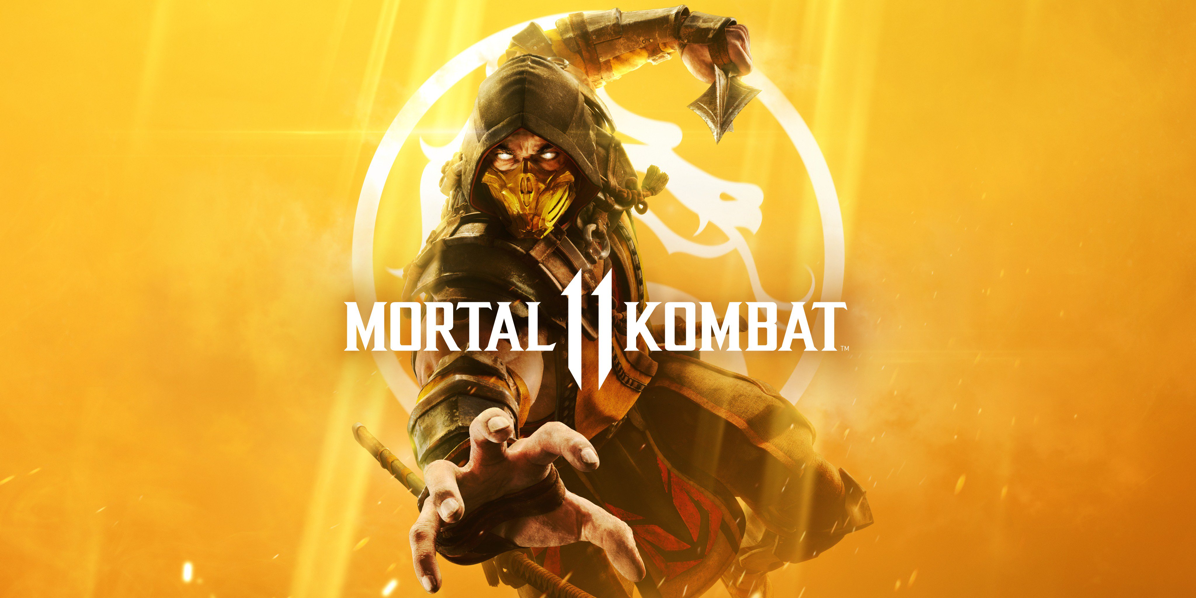General 4096x2048 Mortal Kombat Scorpion (character) Mortal Kombat 11 Video Game Warriors video game art video games