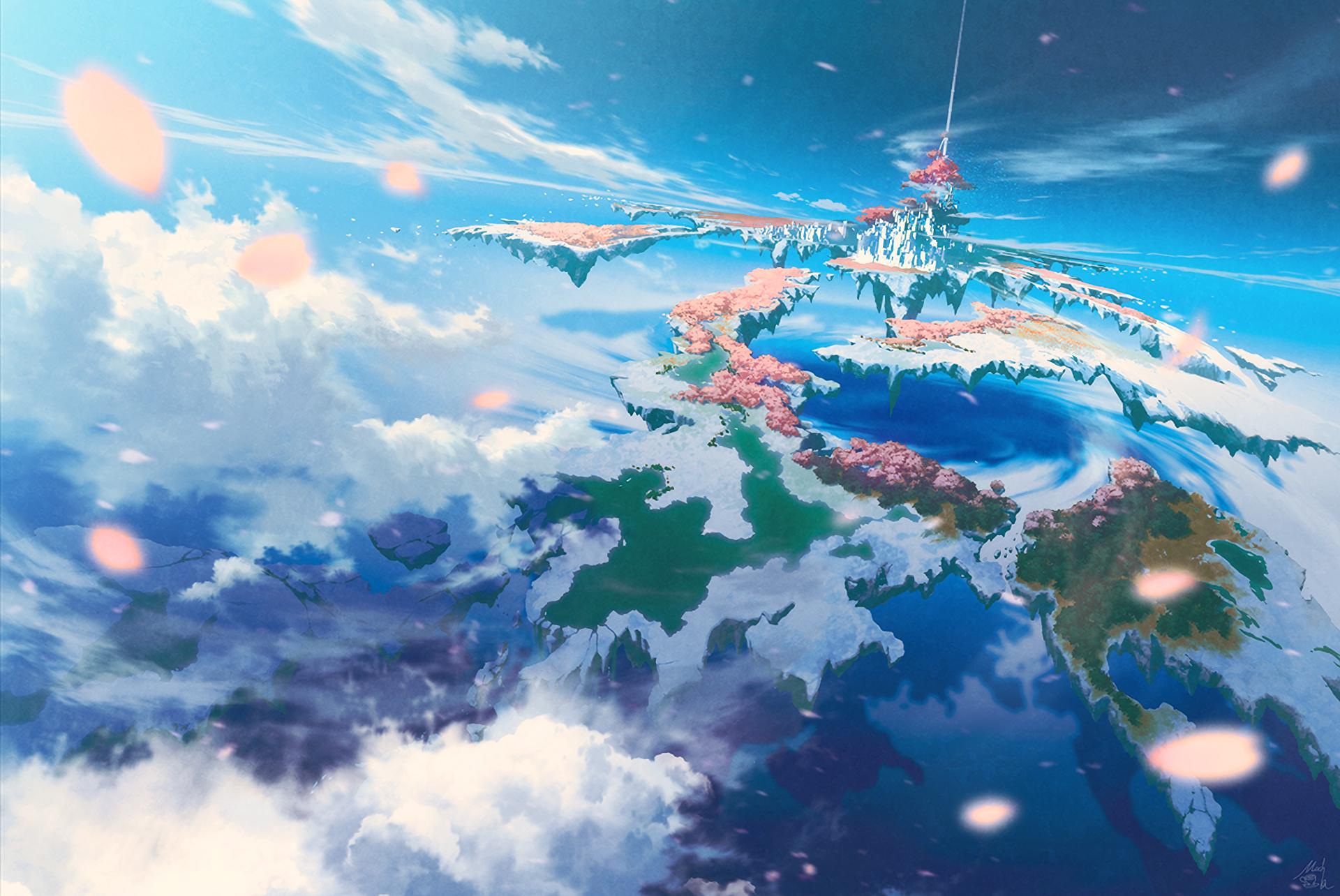 Anime 1920x1284 anime sky clouds