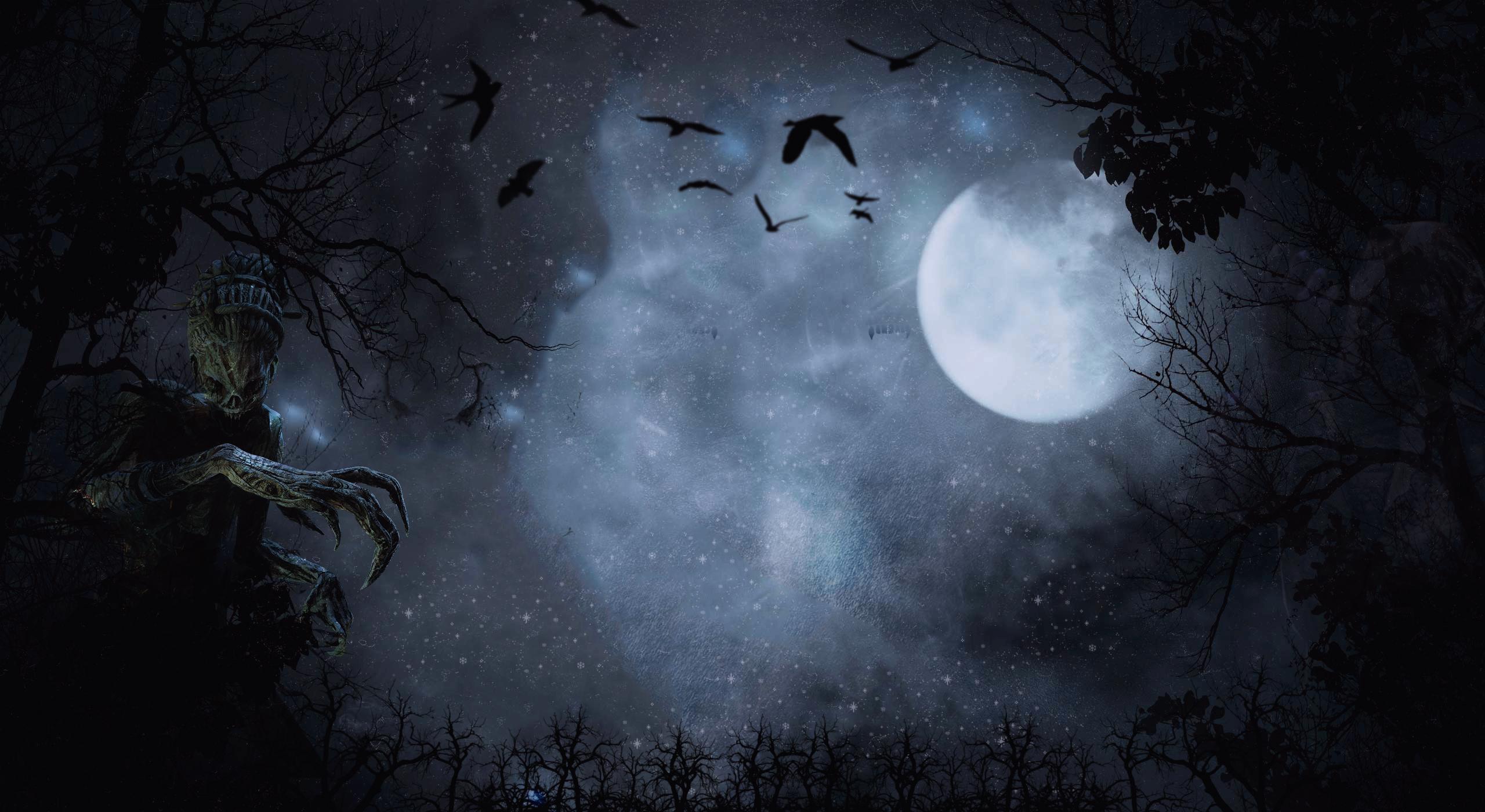 General 2560x1400 The Hag The Nurse Moon dark