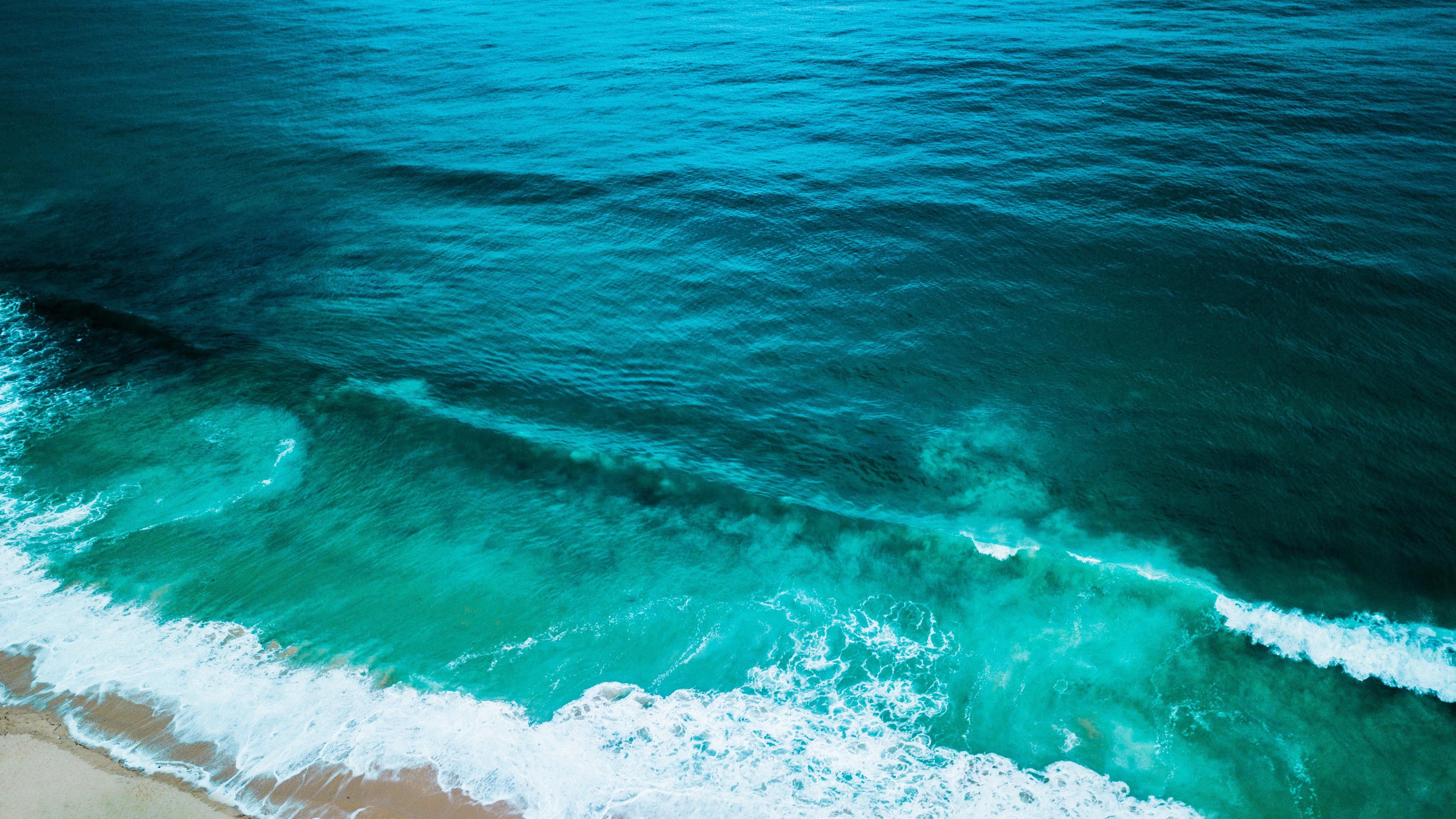 General 3840x2160 waves water ocean view beach wet nature