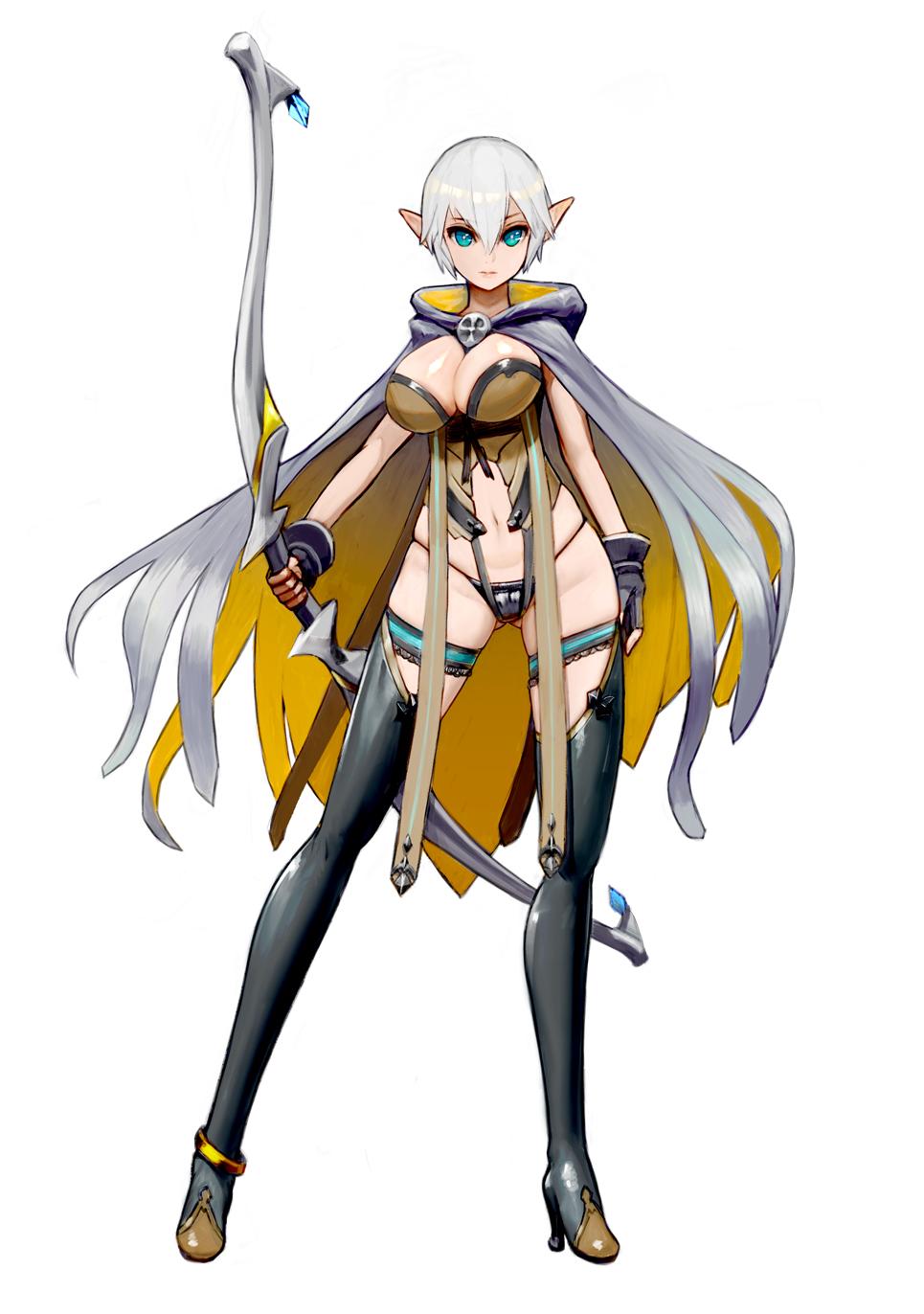 Anime 965x1372 big boobs cleavage anime girls anime archer boobs pointy ears fantasy girl