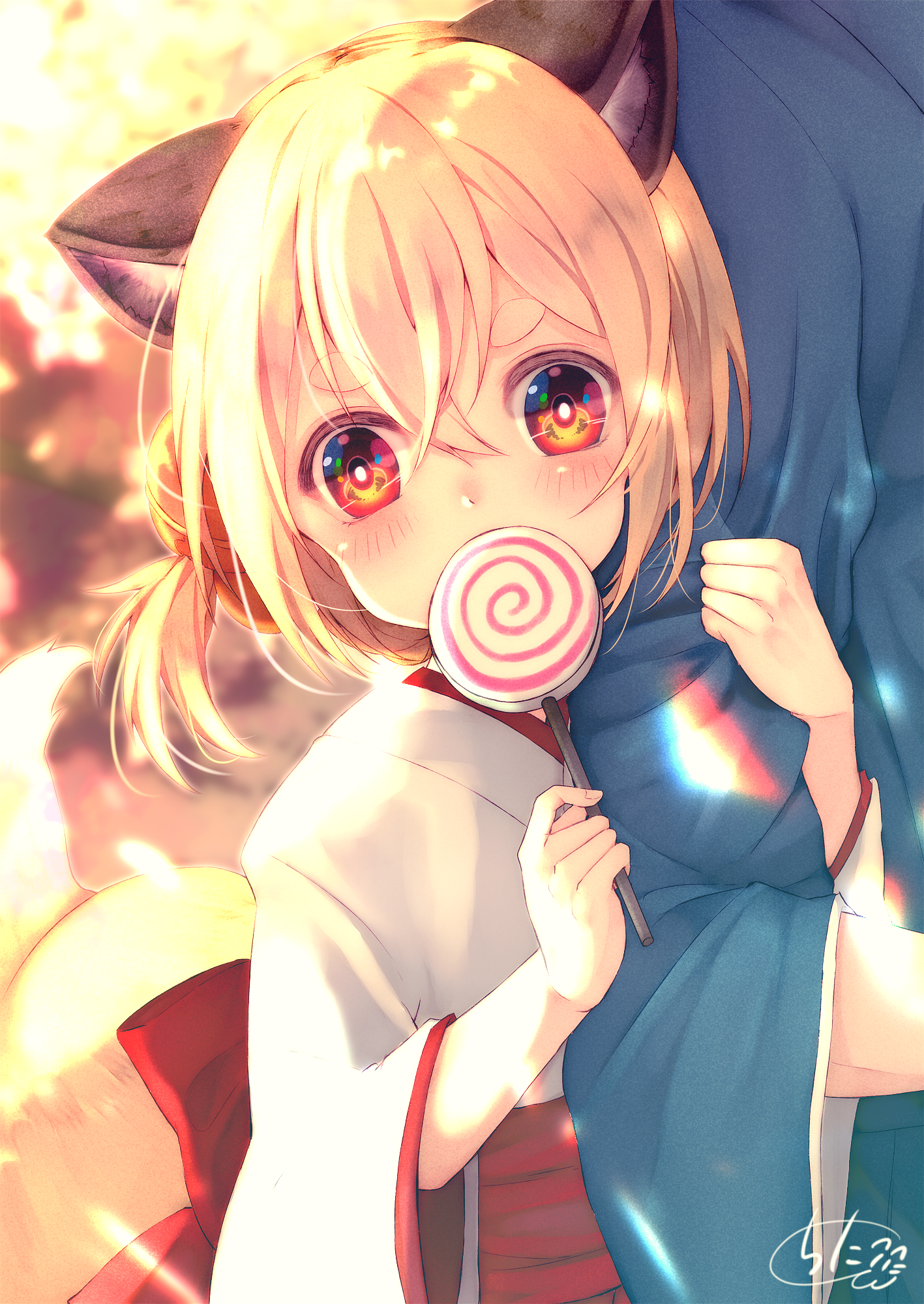 chita (ketchup), #animal ears, #Japanese clothes, #fox girl